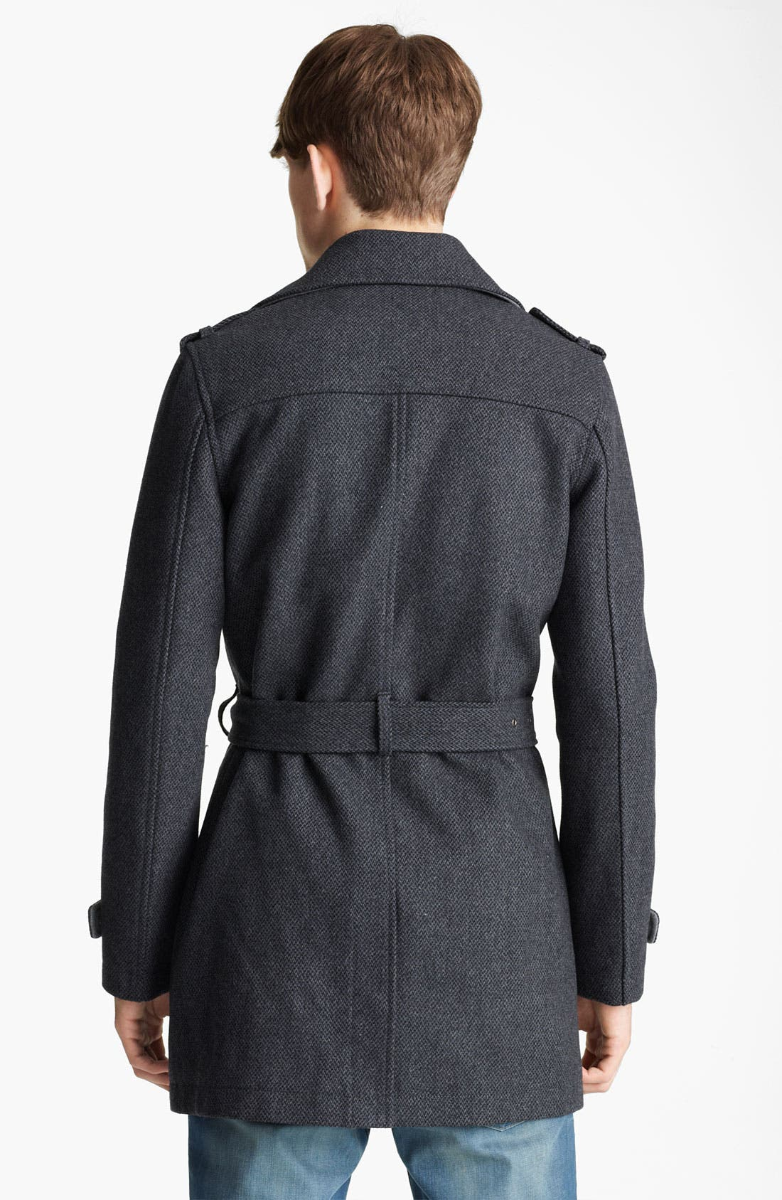 Alternate Image 2  - Topman Wool Blend Trench Coat