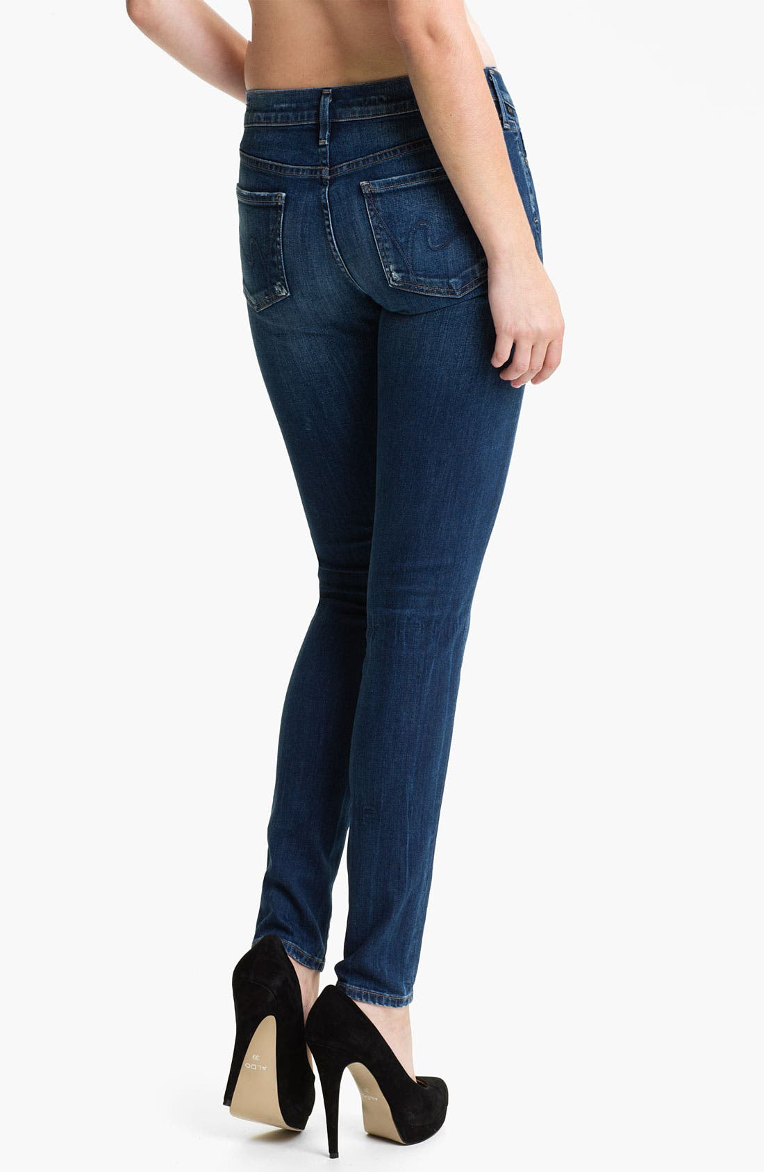 Alternate Image 2  - Citizens of Humanity Stretch Skinny Jeans (Dark Blue)