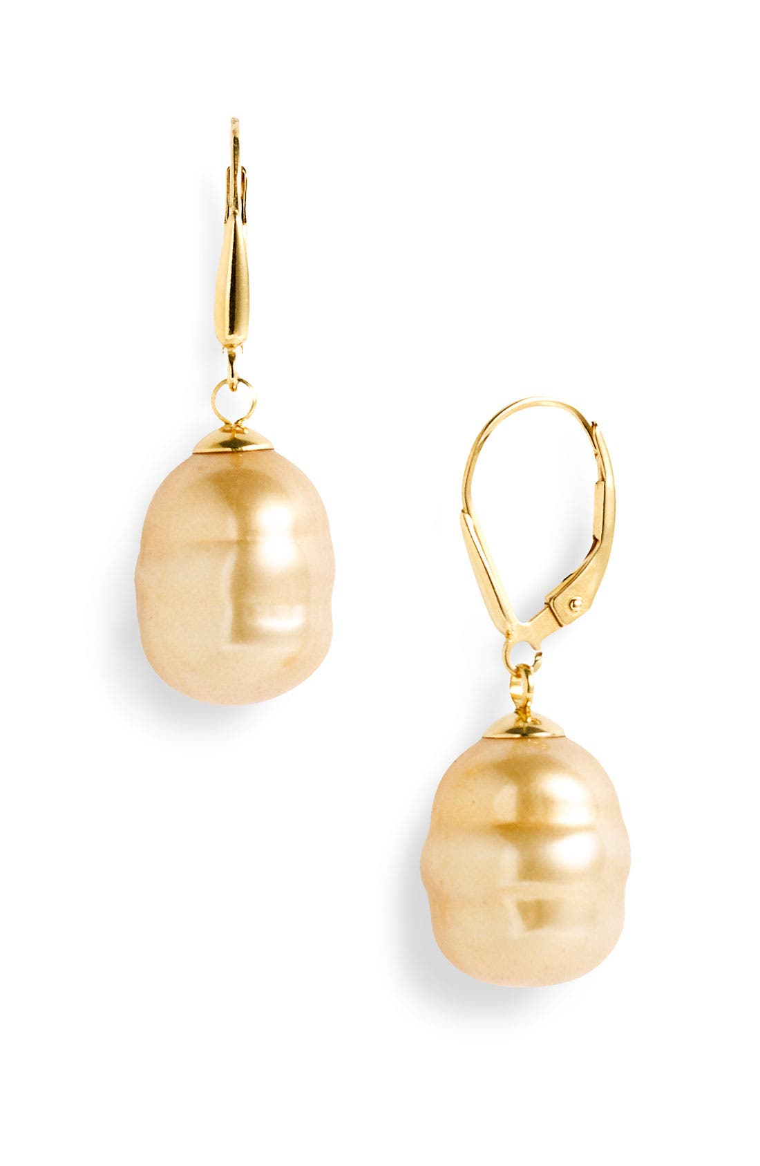 Alternate Image 1 Selected - Majorica 12mm Baroque Pearl Drop Earrings