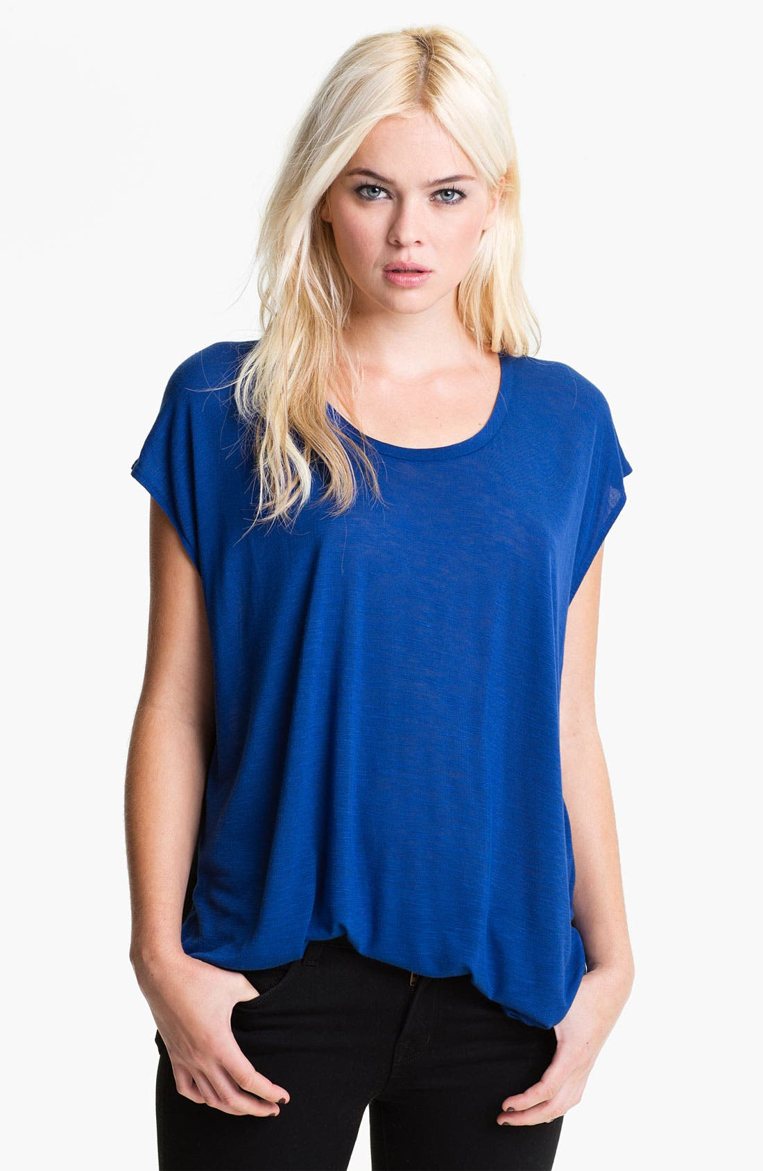 Alternate Image 1 Selected - Rebecca Minkoff 'Eda' Colorblock Swallow Tail Tee