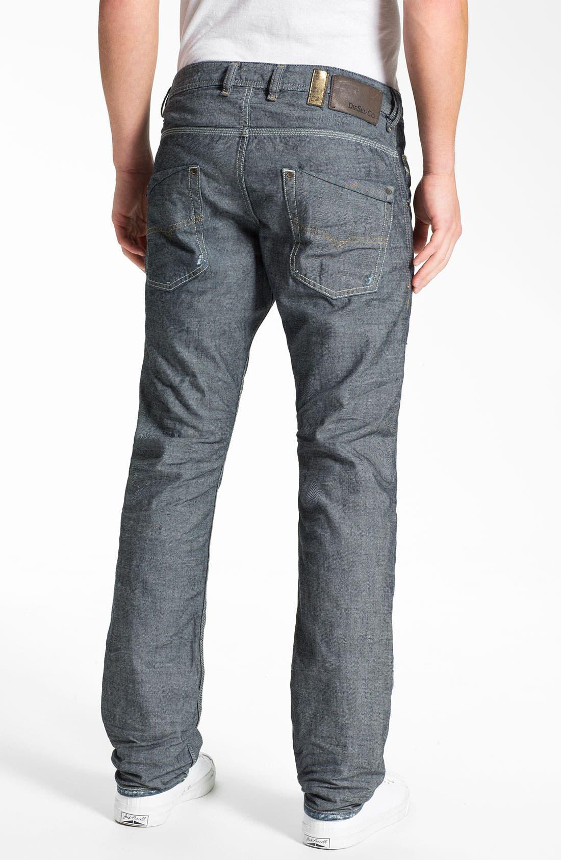 Alternate Image 1 Selected - DIESEL® 'Safado' Straight Leg Jeans (0809D)