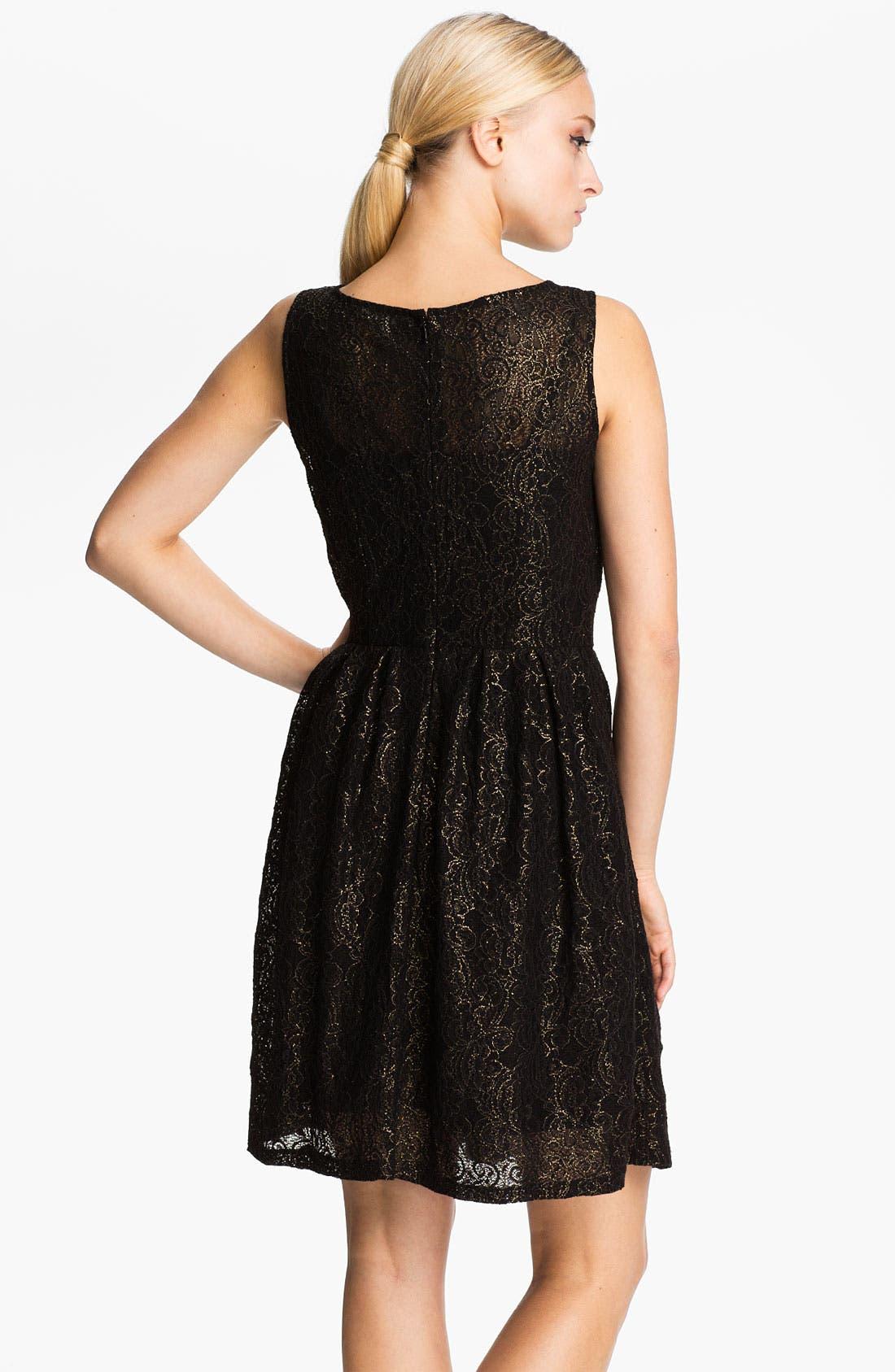 Alternate Image 2  - BB Dakota Metallic Fit & Flare Dress
