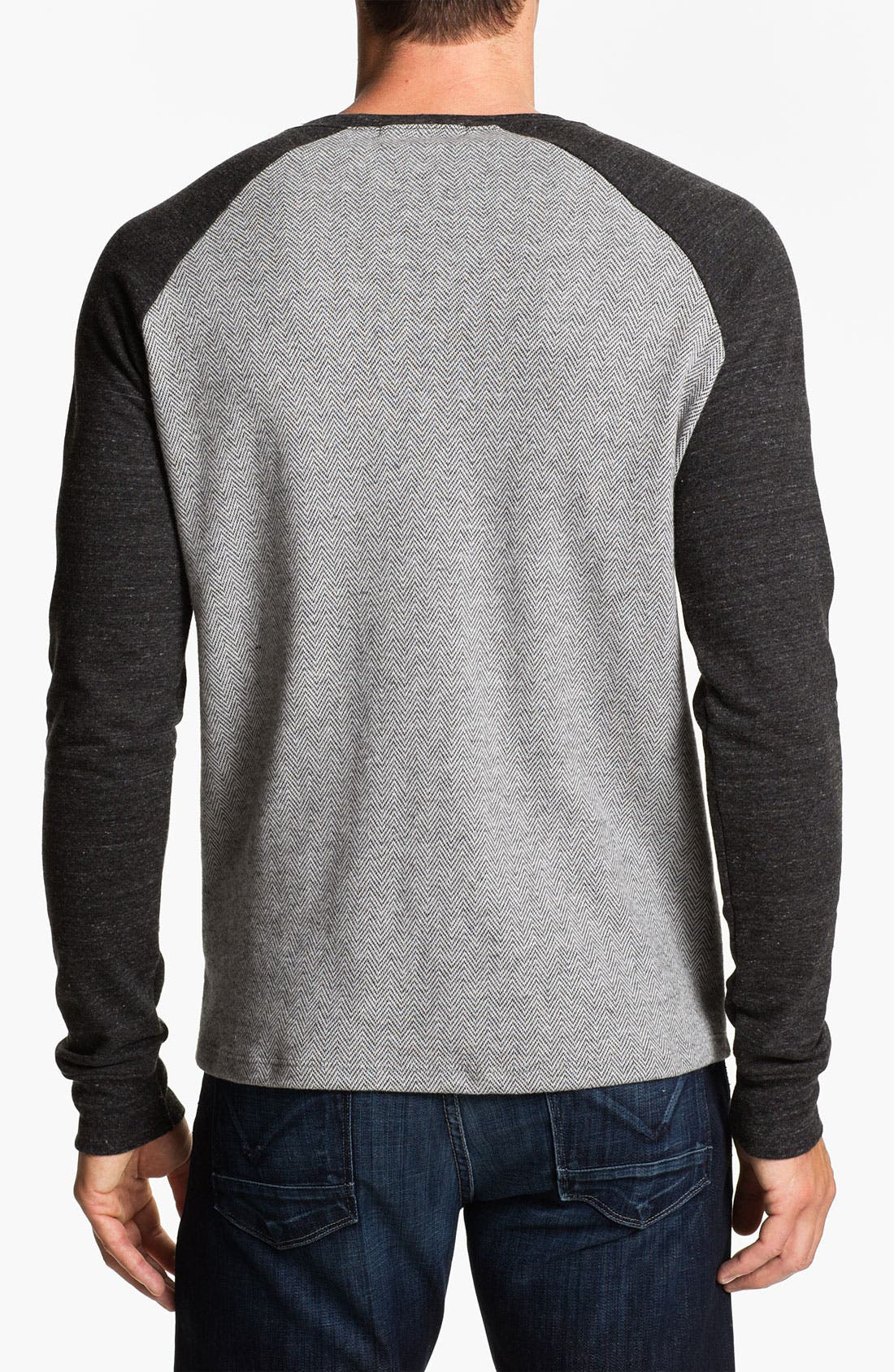Alternate Image 2  - Threads for Thought Herringbone Sweatshirt