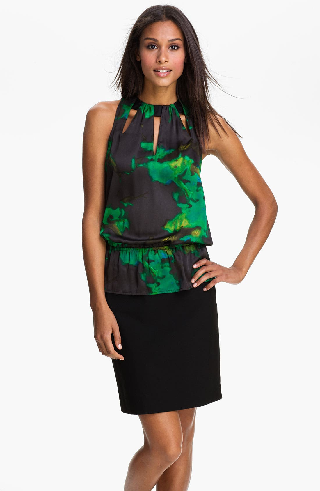Main Image - Kenneth Cole New York 'Fiery Floral' Top