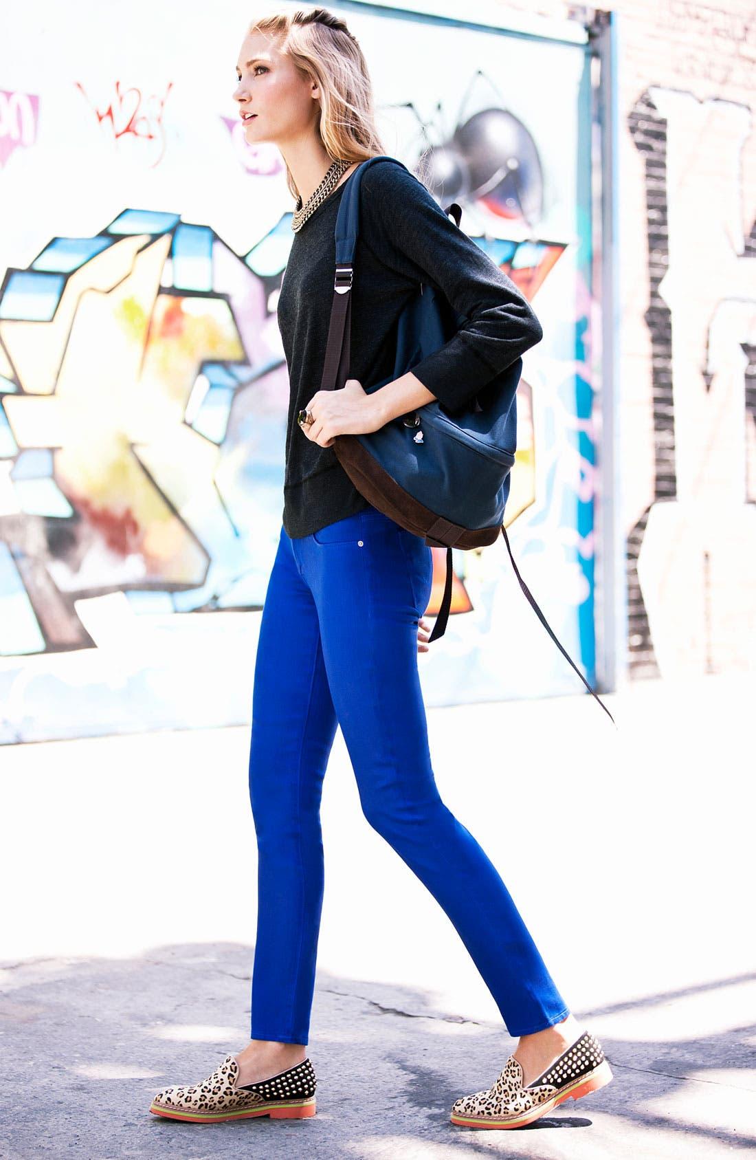 Alternate Image 2  - Hudson Jeans & James Perse Sweatshirt