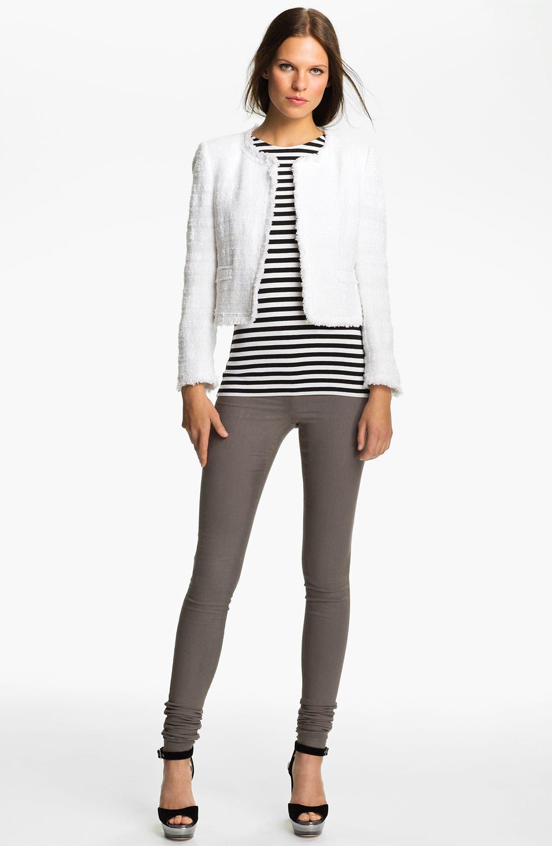 Alternate Image 1 Selected - Alice + Olivia Bouclé Crop Jacket