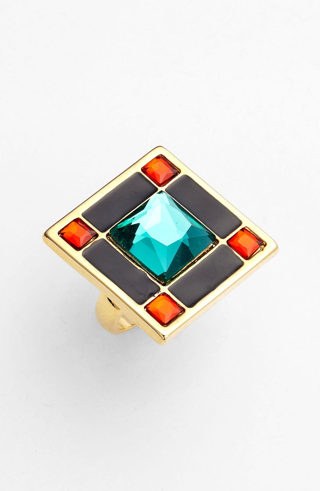 Alternate Image 1 Selected - kate spade new york 'lewitt squares' cocktail ring