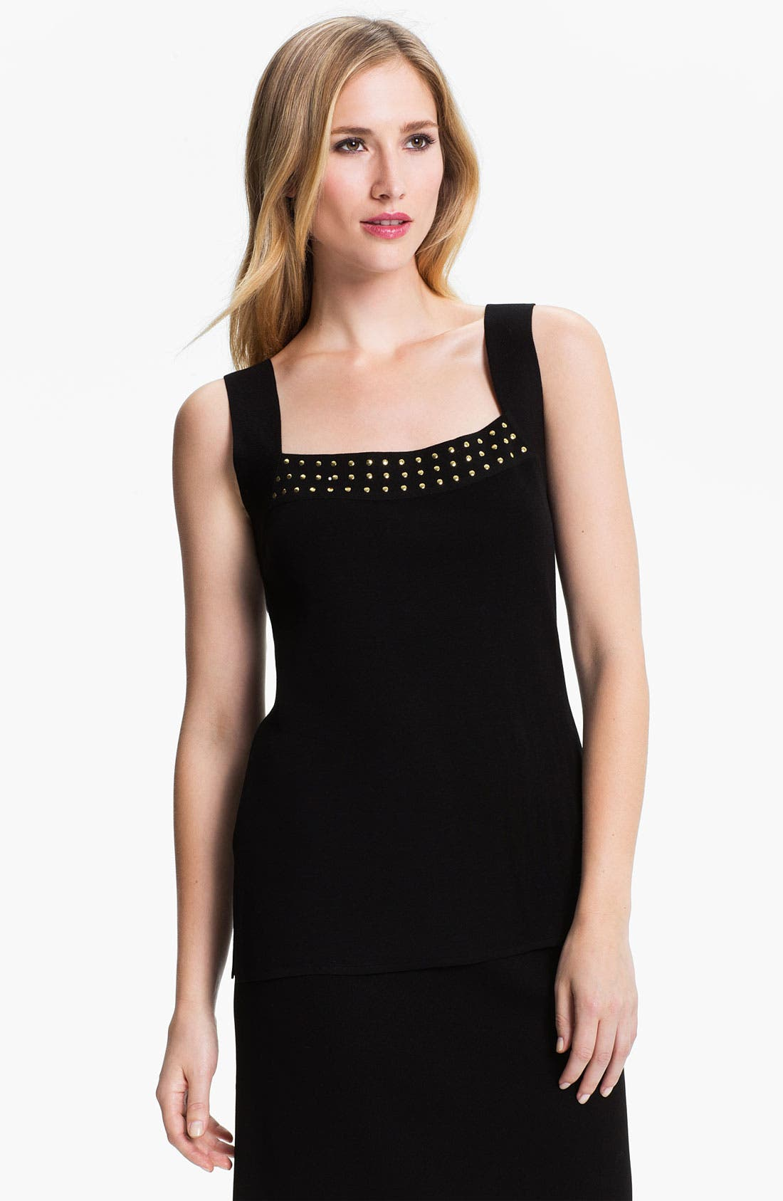 Alternate Image 1 Selected - Exclusively Misook Studded Tank