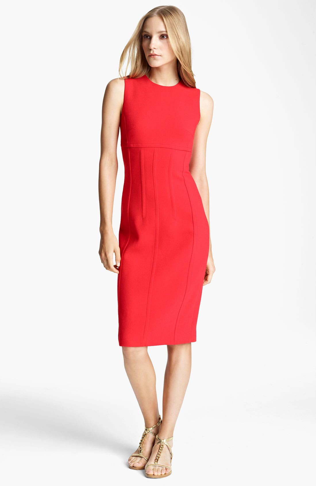 Alternate Image 1 Selected - Michael Kors Seamed Bouclé Sheath Dress