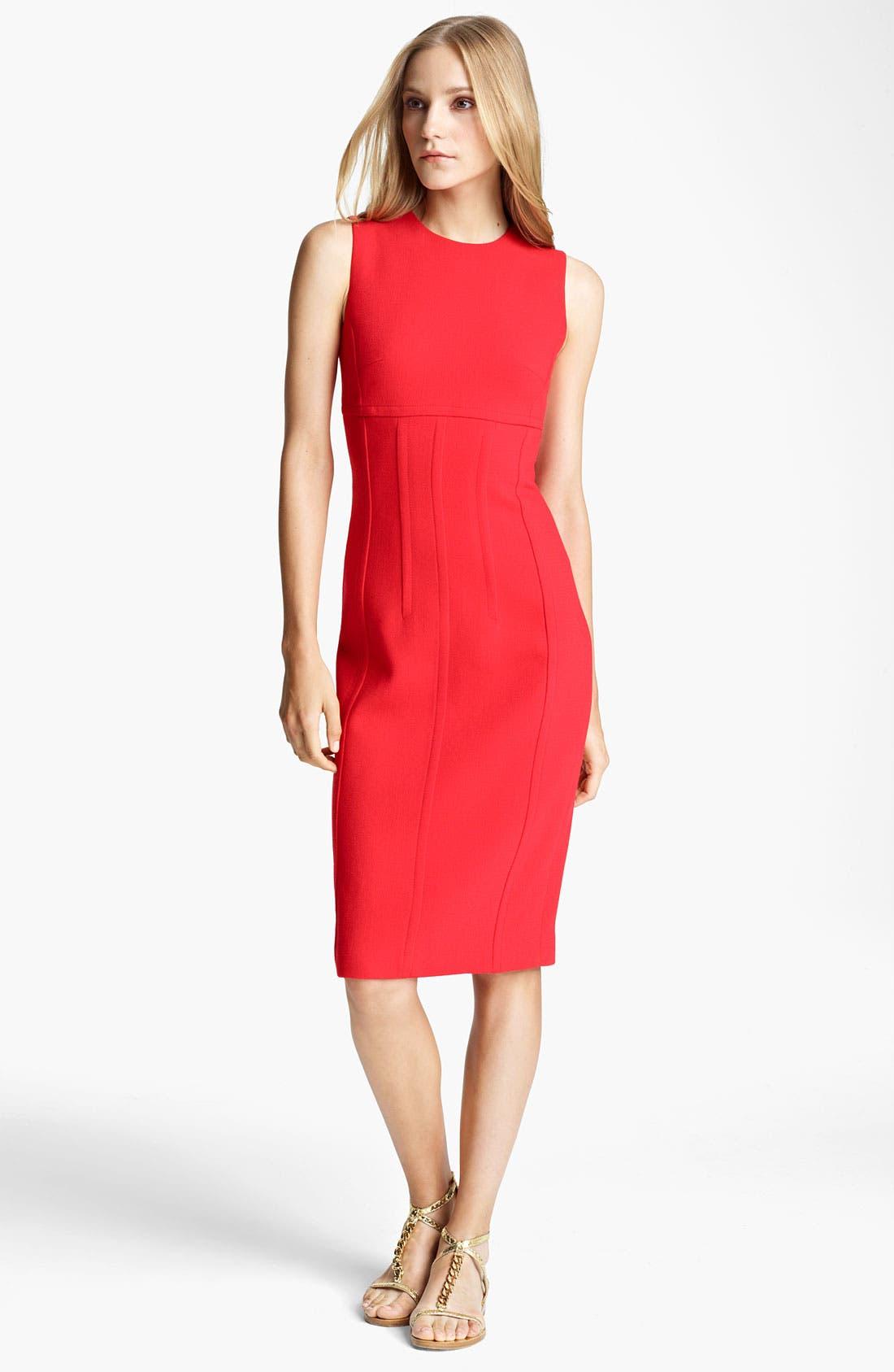 Main Image - Michael Kors Seamed Bouclé Sheath Dress