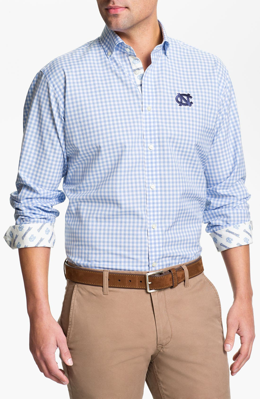 Alternate Image 1 Selected - Thomas Dean 'University of North Carolina' Traditional Fit Sport Shirt