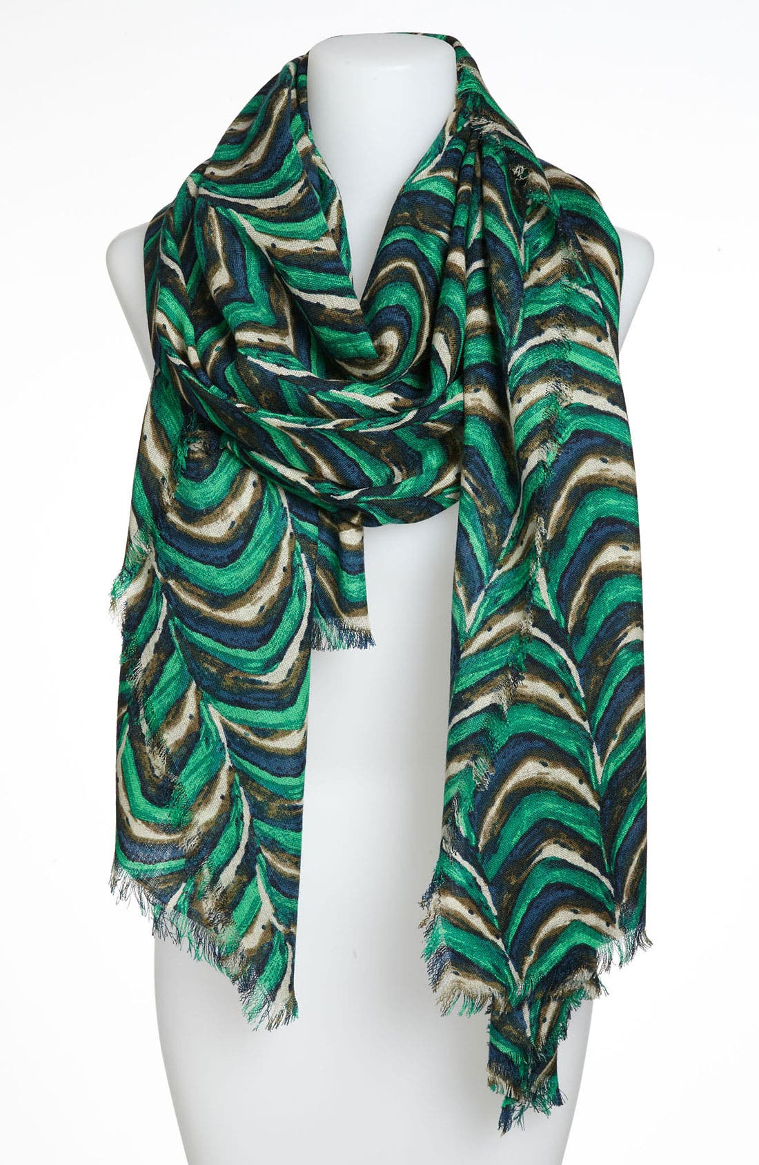 Alternate Image 1 Selected - Halogen® 'Variance' Wool Challis Scarf