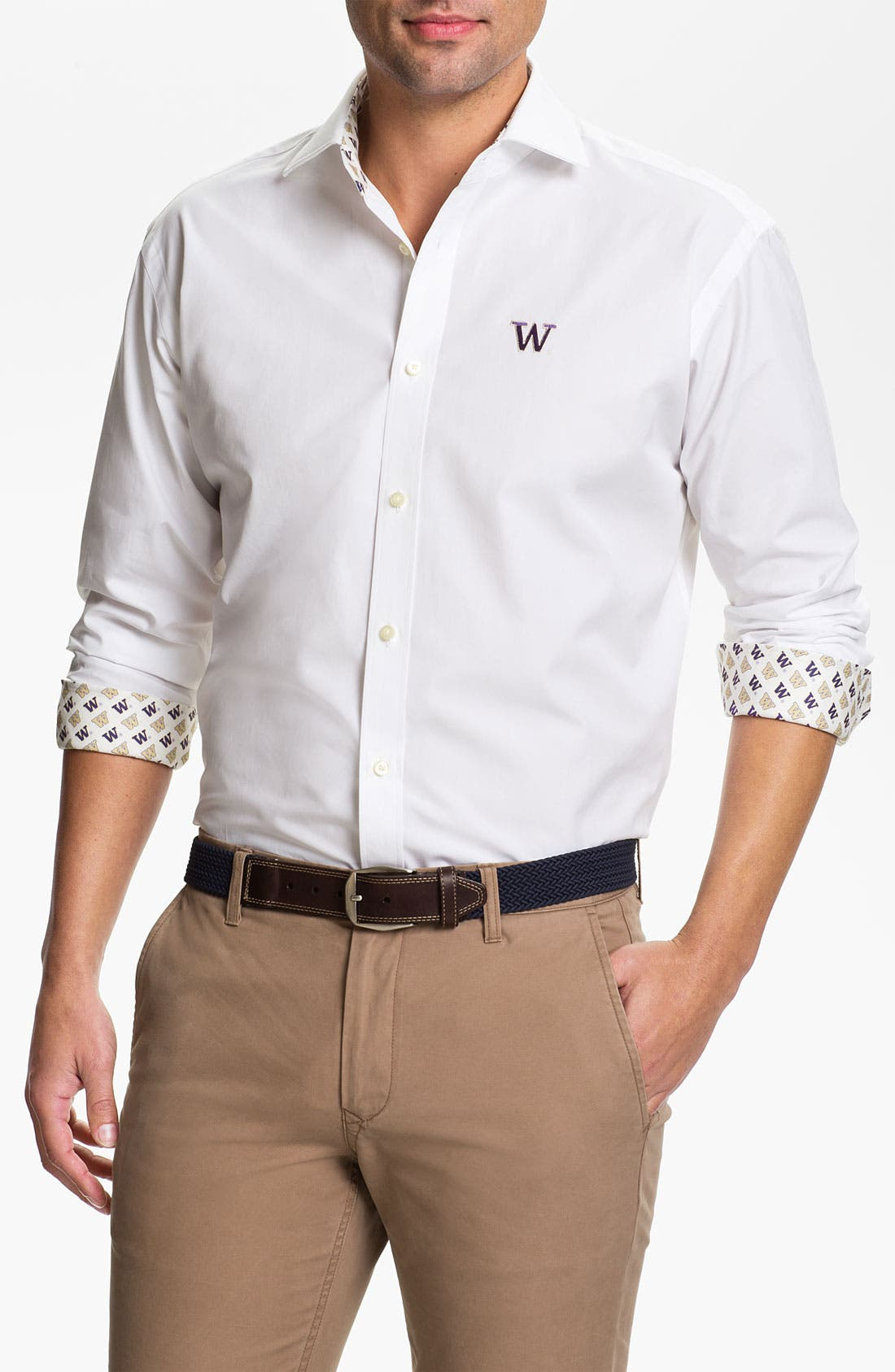 Alternate Image 1 Selected - Thomas Dean 'University of Washington' Traditional Fit Sport Shirt