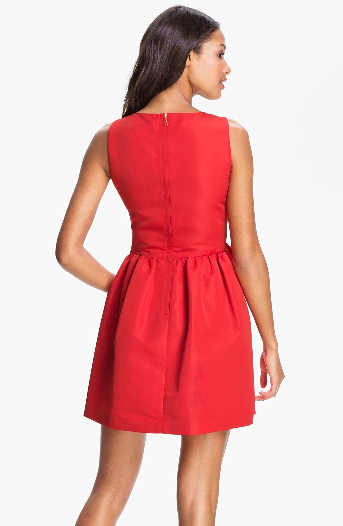 Alternate Image 2  - Taylor Dresses Bow Detail Woven Shift Dress