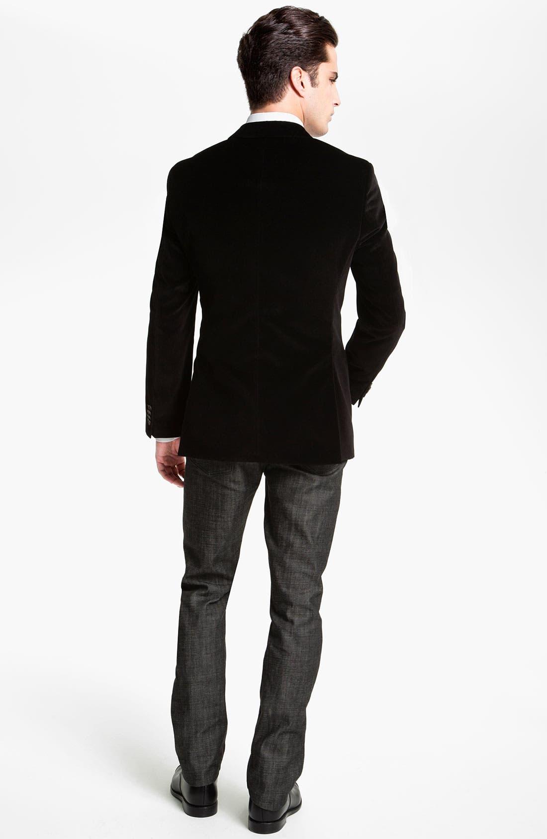 Alternate Image 5  - BOSS Black 'Keys' Velvet Blazer
