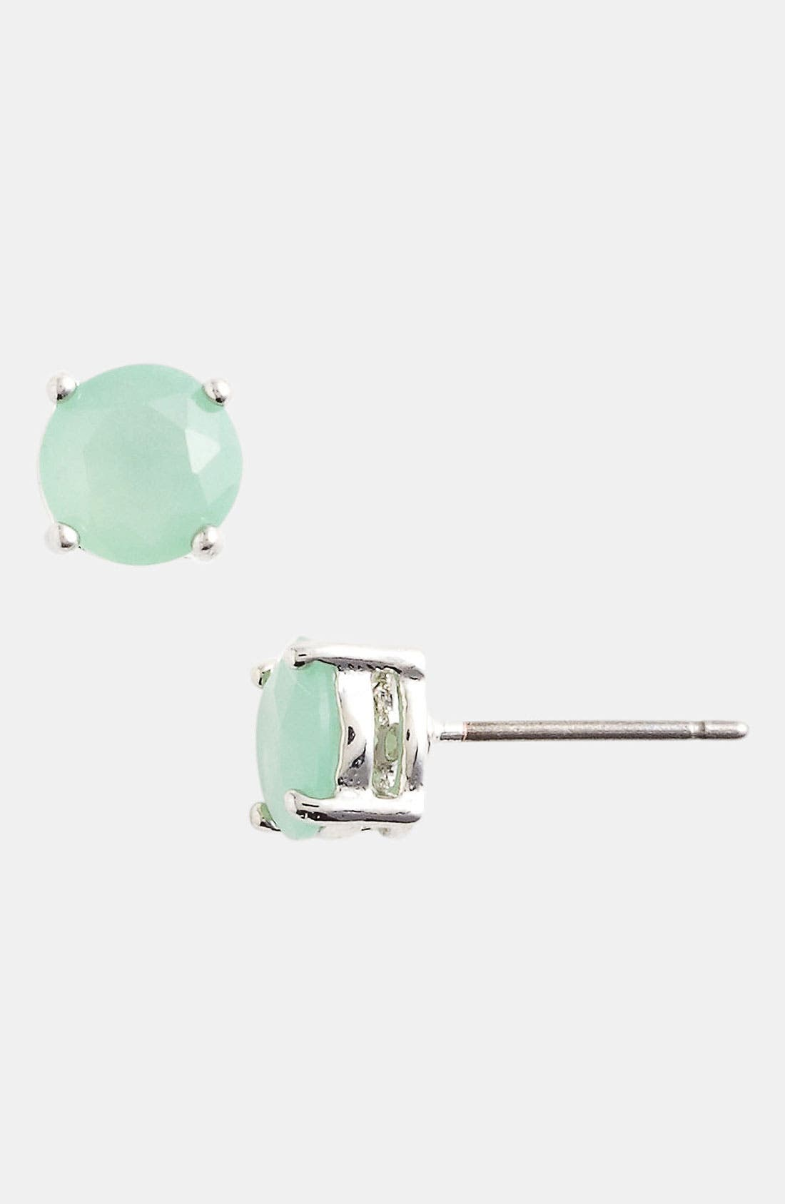 Alternate Image 1 Selected - Rachel Milk Glass Stud Earrings (Juniors)