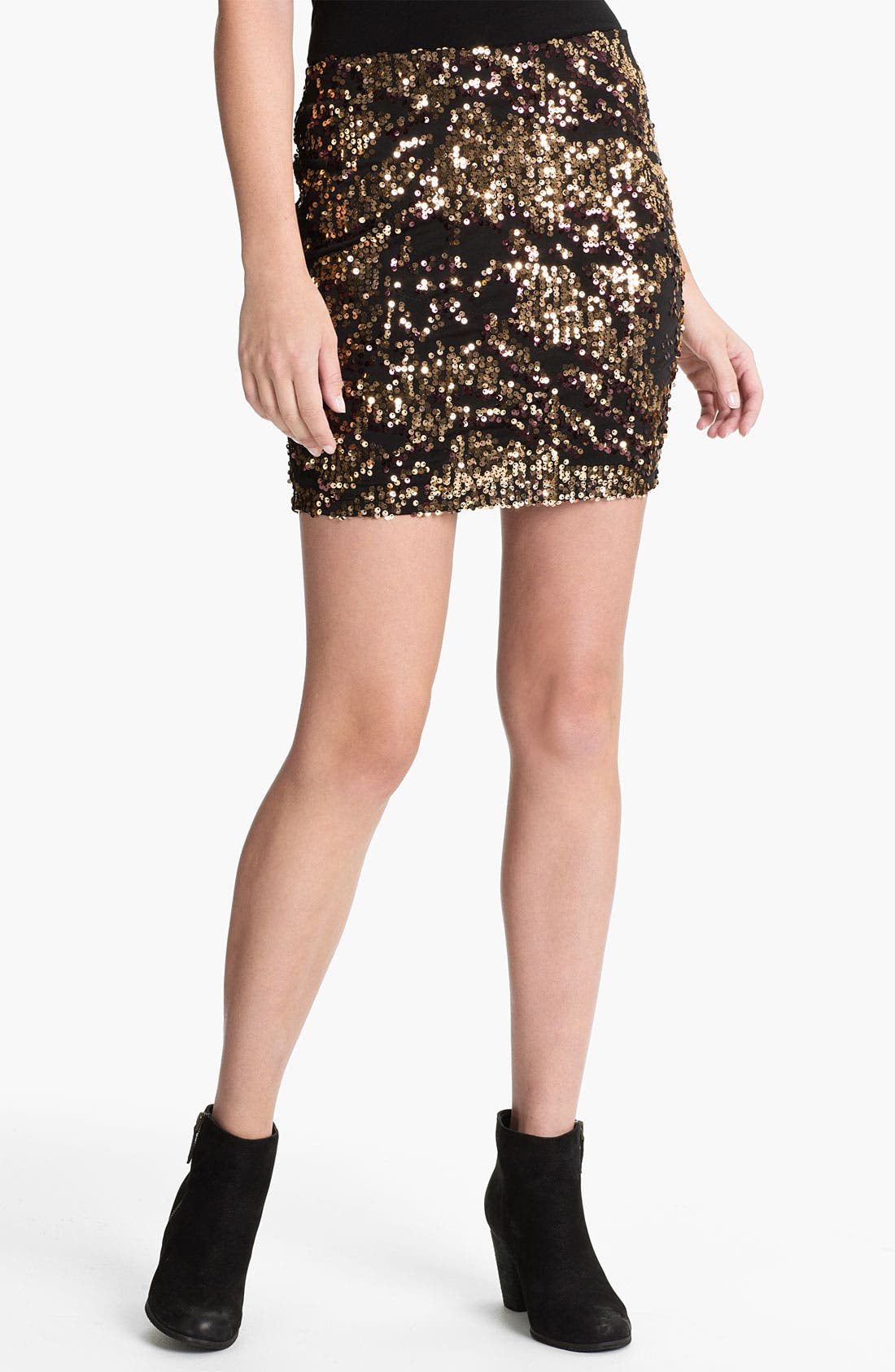 Alternate Image 1 Selected - Lily White Sequin Skirt (Juniors)