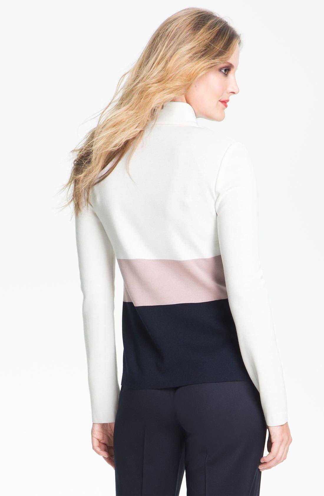 Alternate Image 3  - St. John Collection Colorblock Milano Knit Scuba Jacket