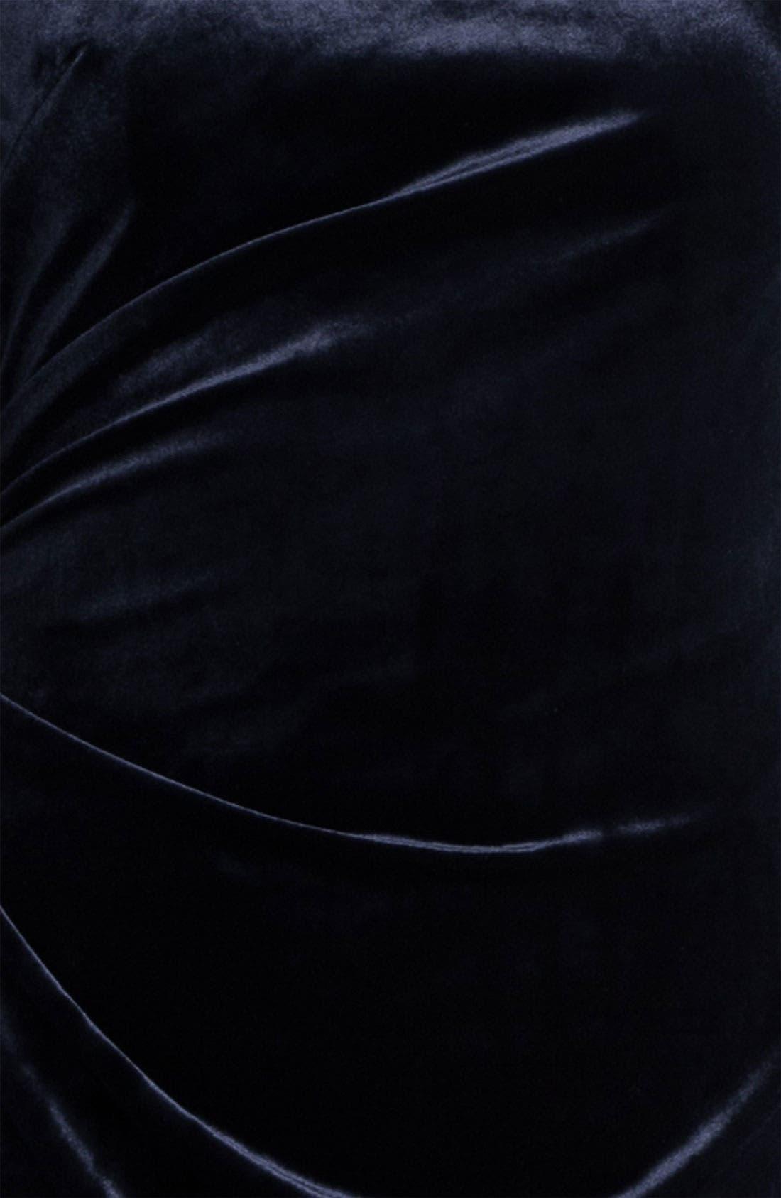 Alternate Image 3  - David Meister Back Cutout Velvet Sheath Dress