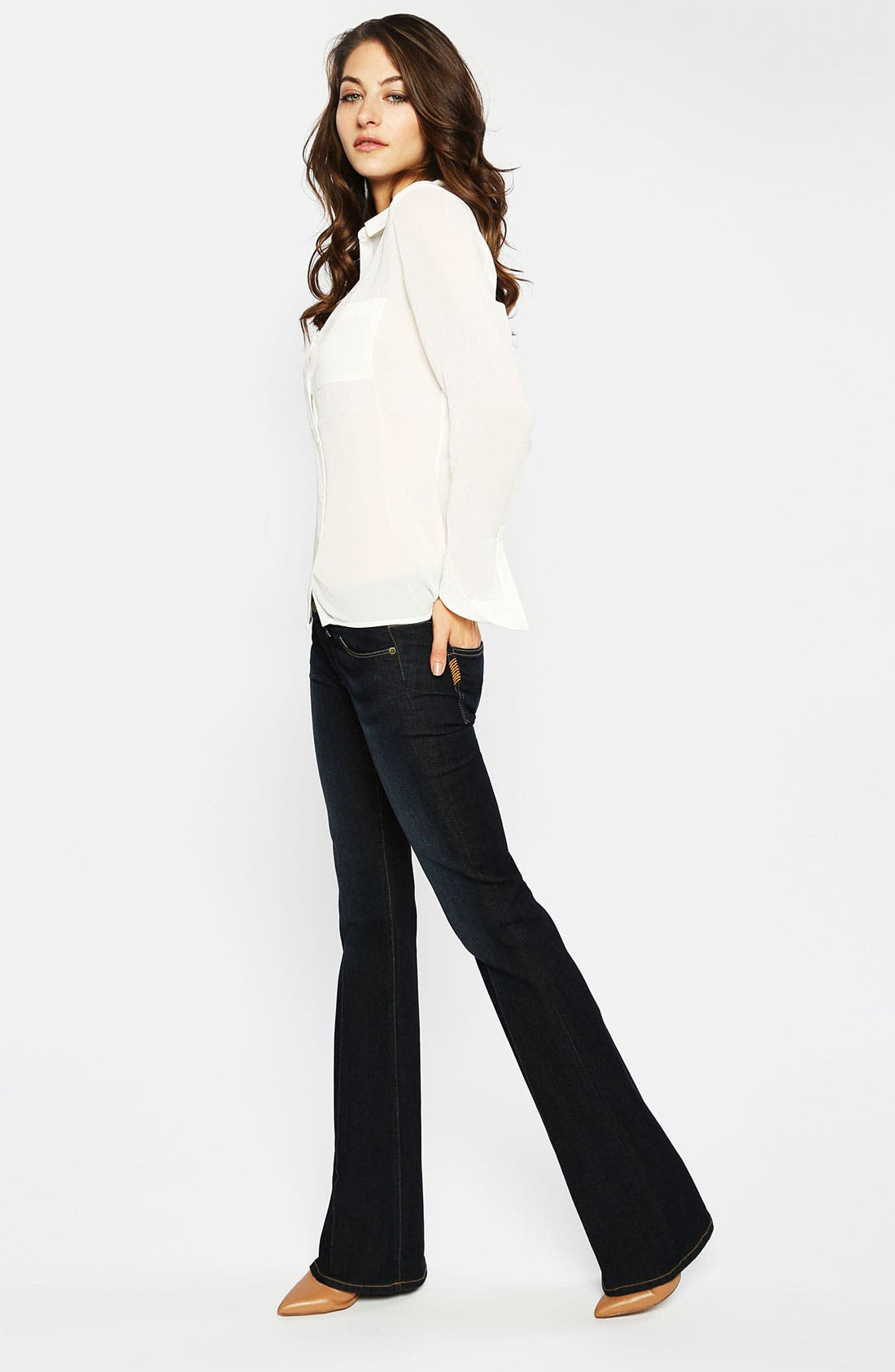 Alternate Image 5  - Paige Denim 'Skyline' Bootcut Stretch Jeans (Carson)