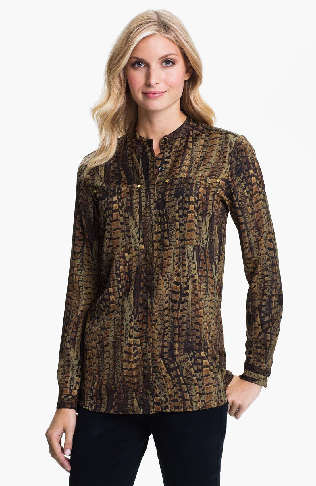 Alternate Image 1 Selected - MICHAEL Michael Kors Oversize Pocket Shirt