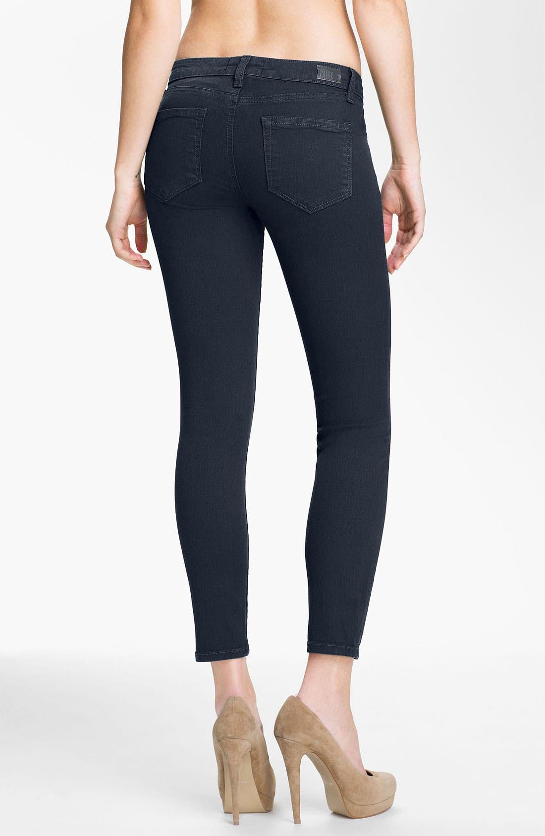 Alternate Image 2  - Paige Denim 'Skyline' Ankle Peg Skinny Stretch Jeans (Drift)