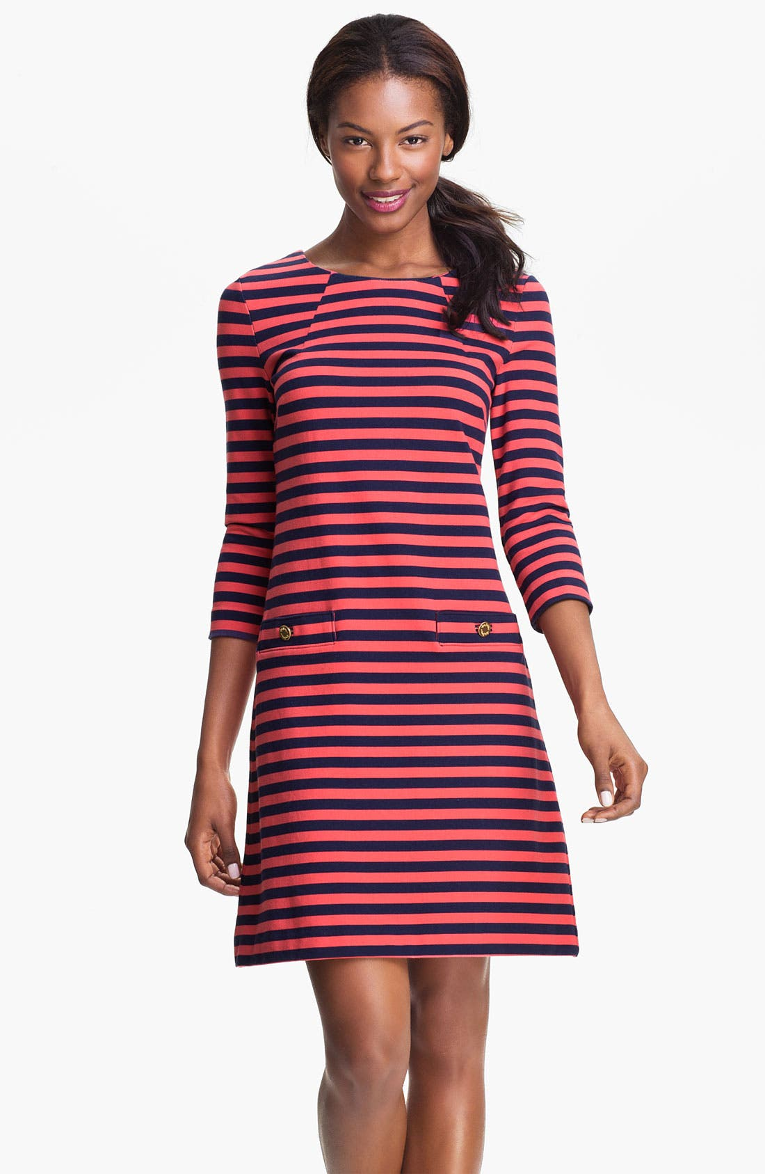 Alternate Image 1 Selected - Lilly Pulitzer® 'Charlene' Stripe Knit Shift Dress