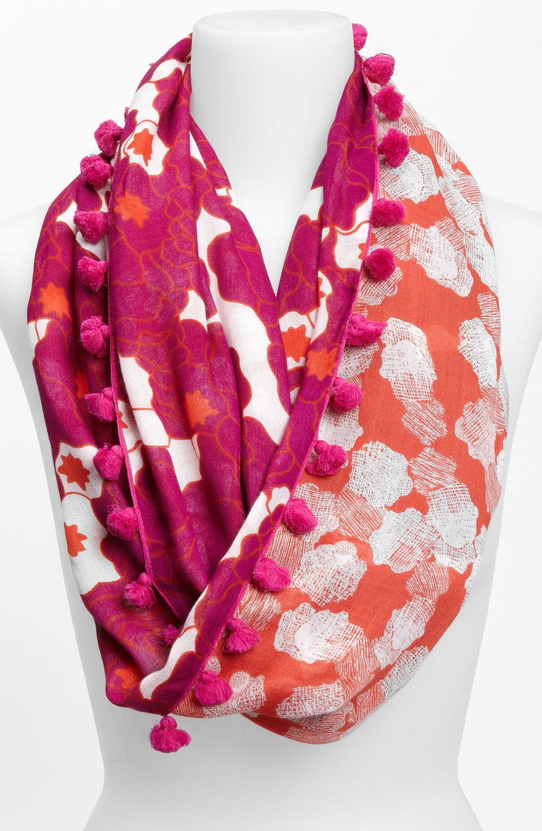 Alternate Image 1 Selected - Diane von Furstenberg Tasseled Circle Scarf