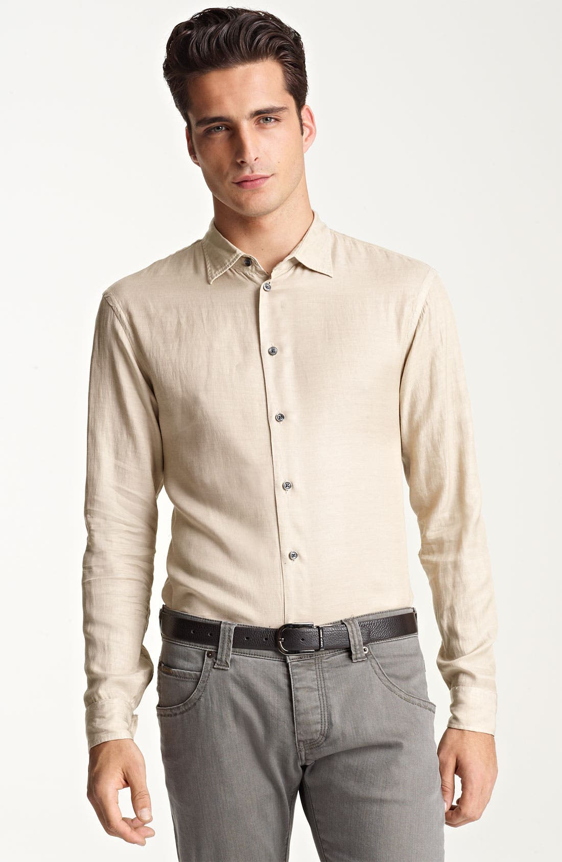 Alternate Image 1 Selected - Armani Collezioni Sport Shirt