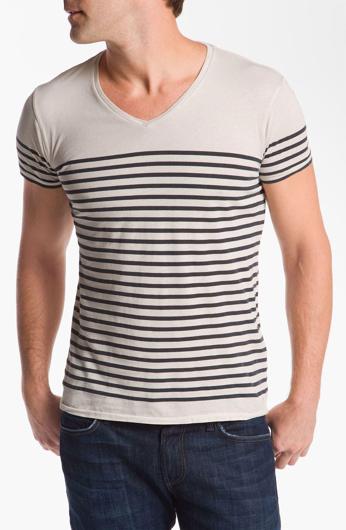 Alternate Image 1 Selected - Scotch & Soda Oil Washed V-Neck T-Shirt