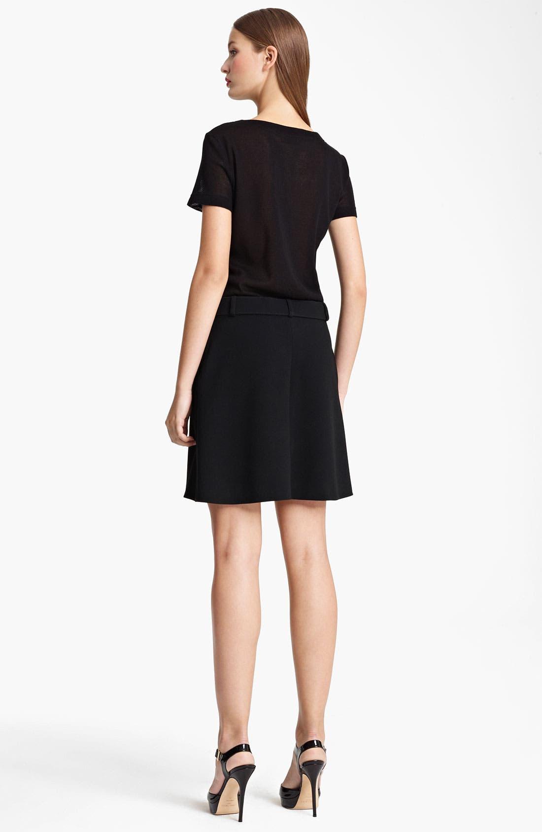 Alternate Image 2  - Moschino Cheap & Chic Mesh & Crepe Dress