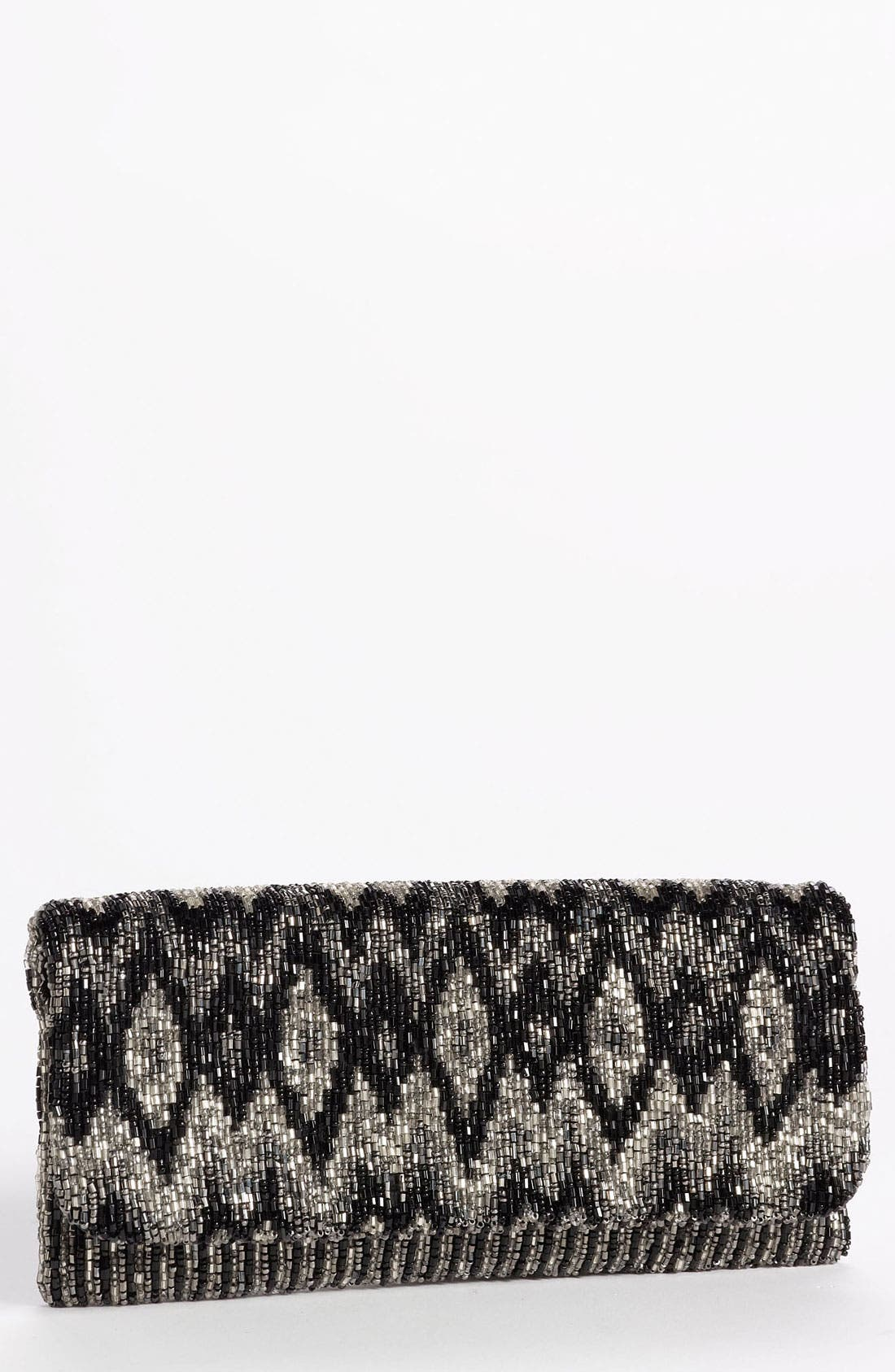 Alternate Image 1 Selected - Moyna Beaded Foldover Clutch