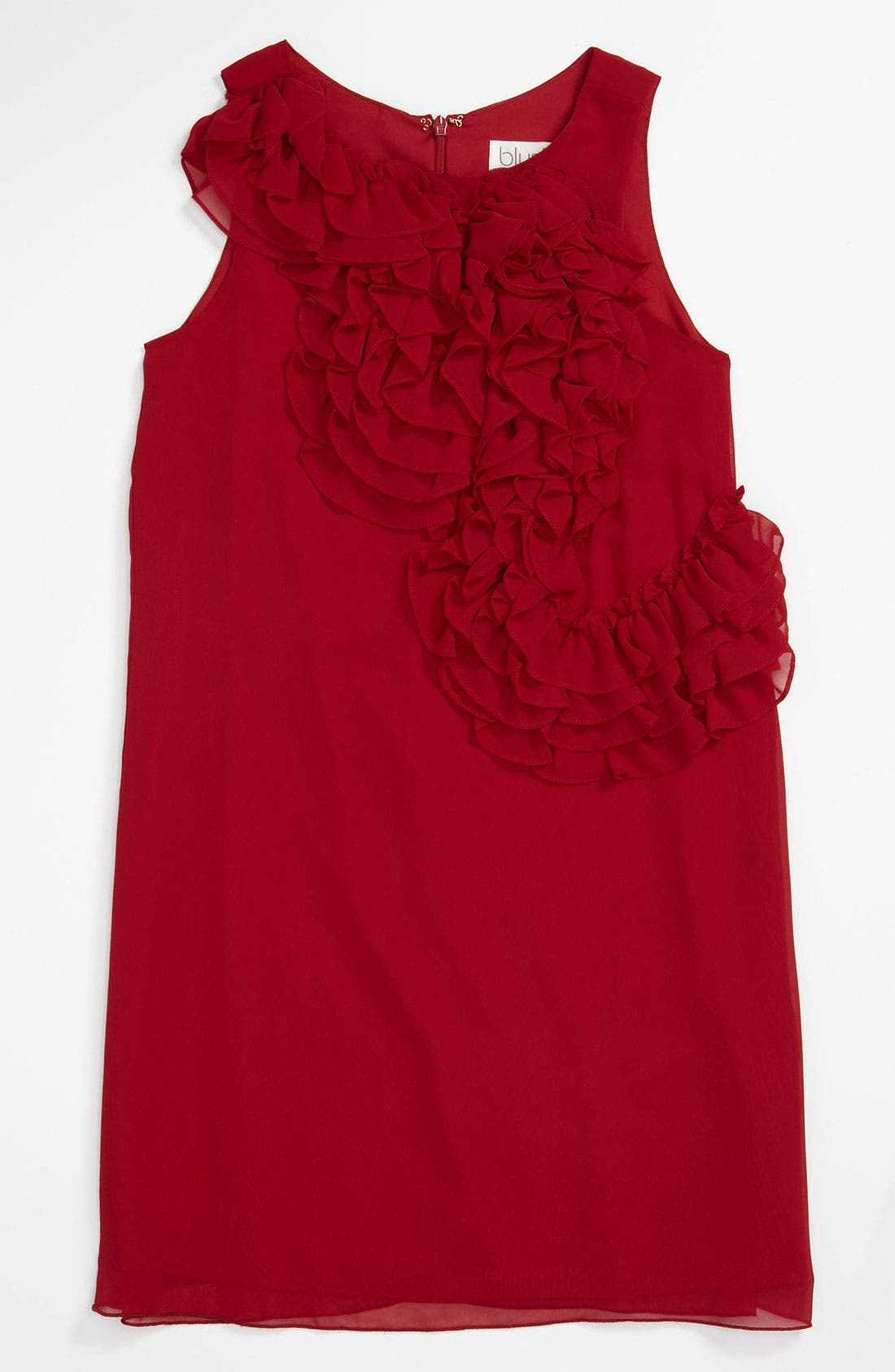 Main Image - BLUSH by Us Angels Ruffle Front Trapeze Dress (Little Girls)