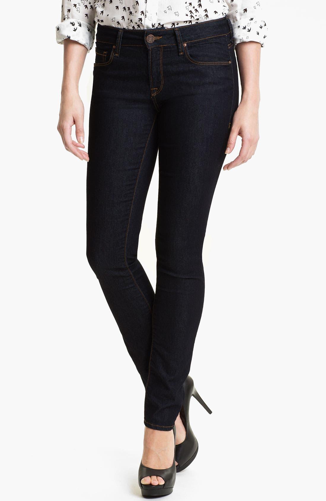Alternate Image 1 Selected - Mavi Jeans 'Alexa' Mid Rise Super Skinny Jeans (Rinse Super)