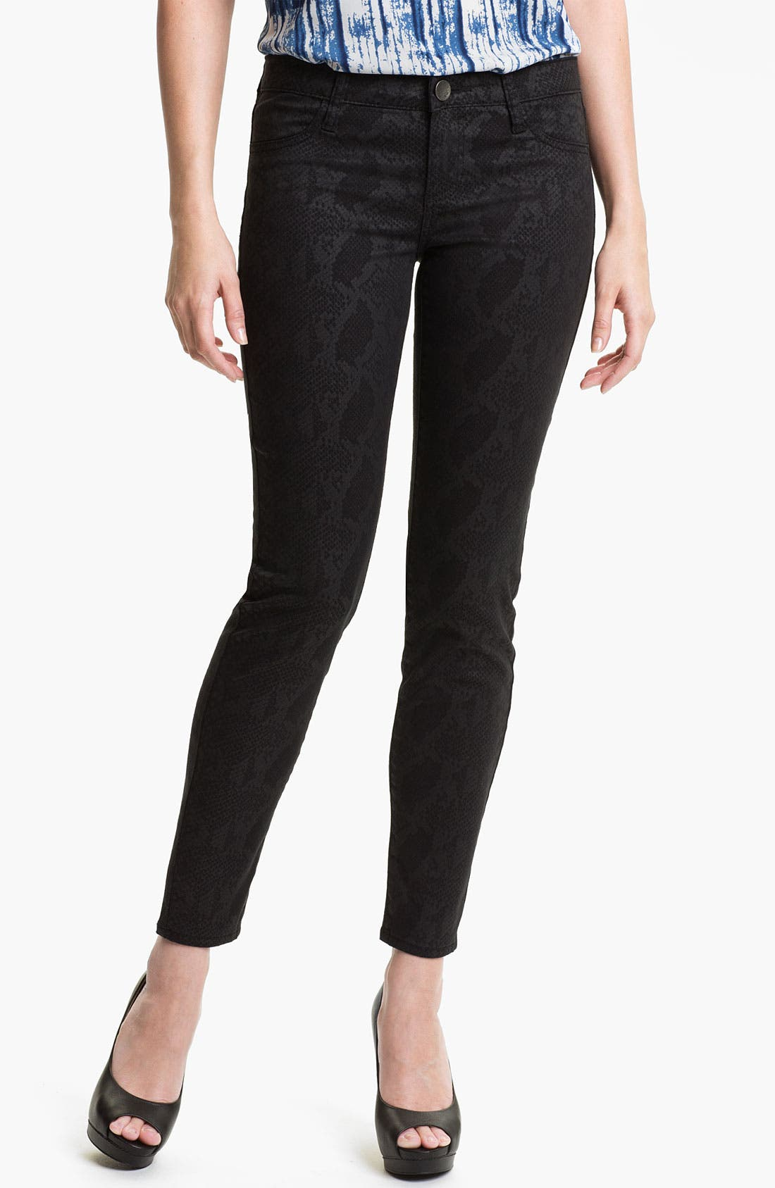 Main Image - KUT from the Kloth 'Jennifer' Skinny Stretch Jeans (Snakeskin Print) (Online Exclusive)
