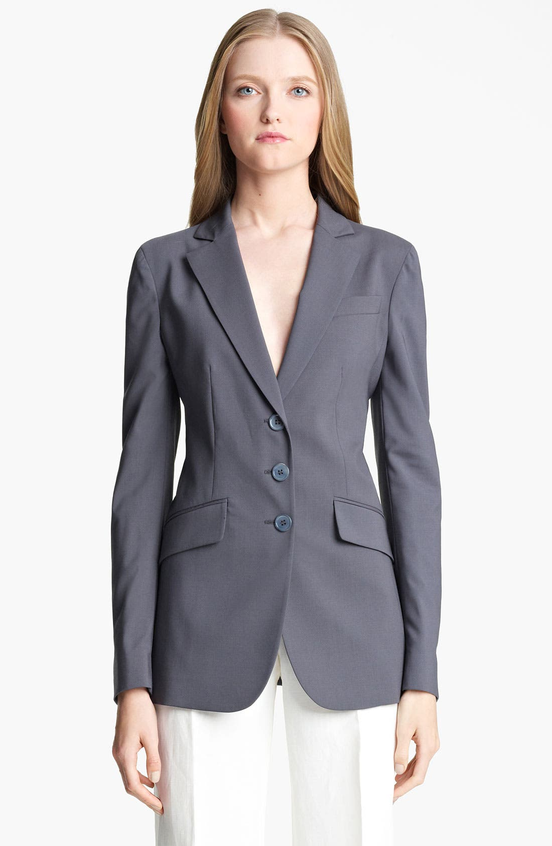 Alternate Image 6  - Armani Collezioni Stretch Wool Jacket