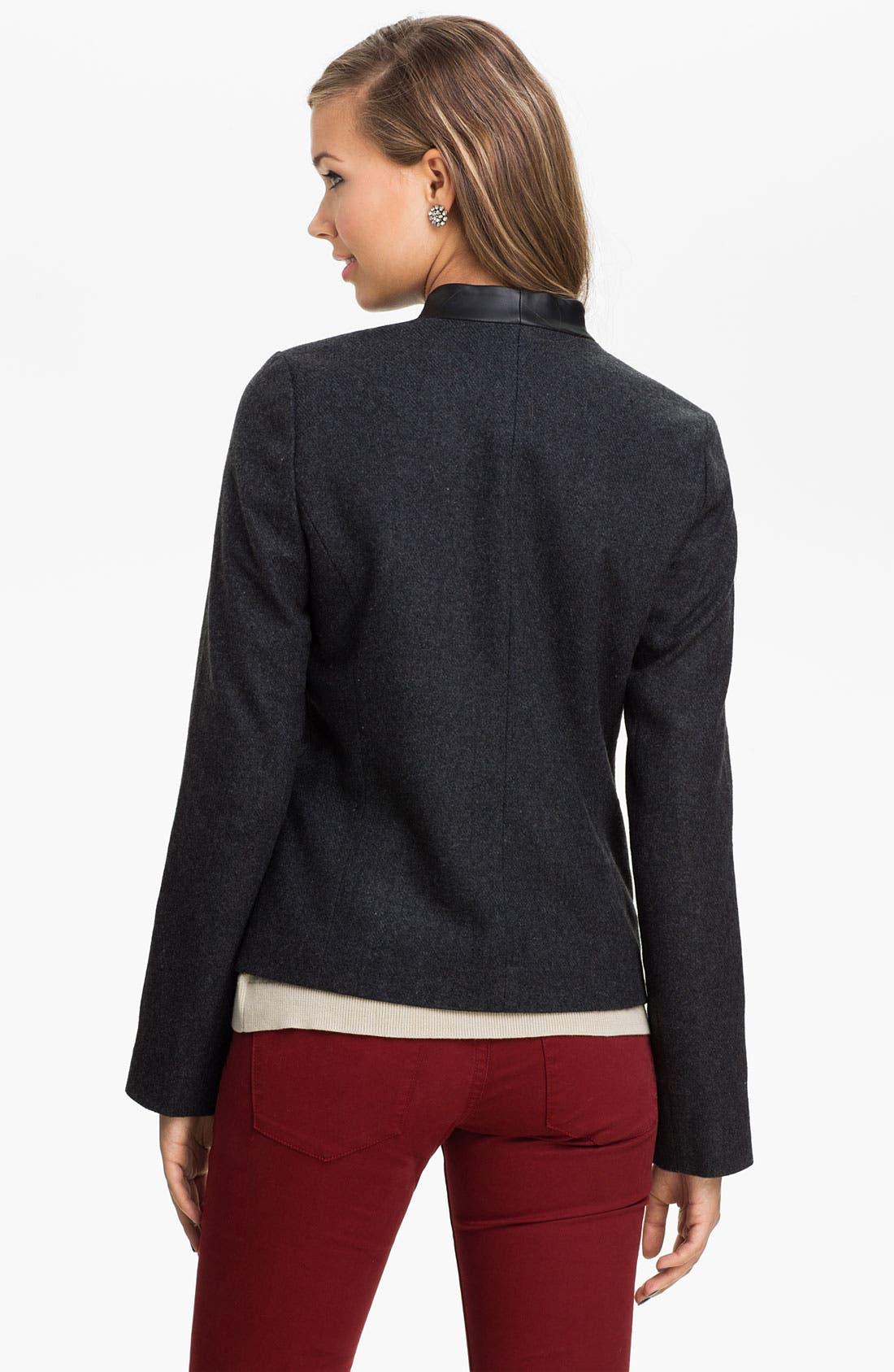Alternate Image 2  - BP. Faux Leather Collar Blazer (Juniors)