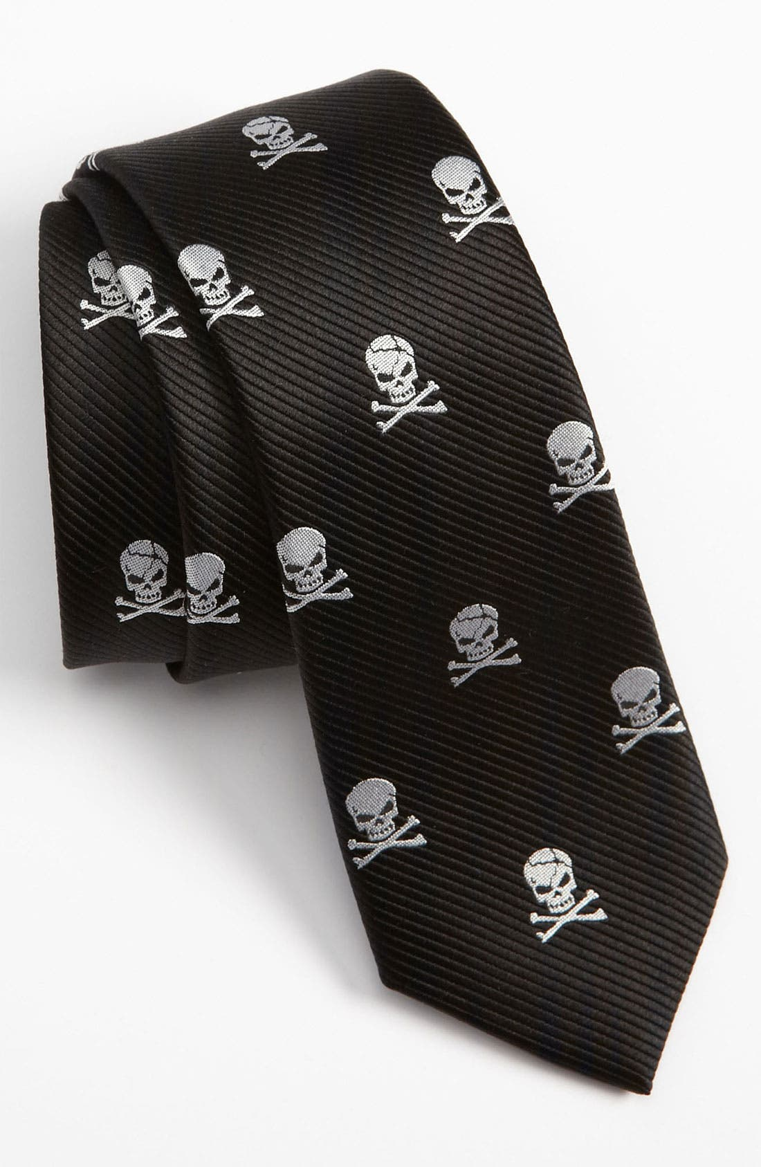 Alternate Image 1 Selected - The Tie Bar Silk Skull and Crossbones Tie (Online Only)