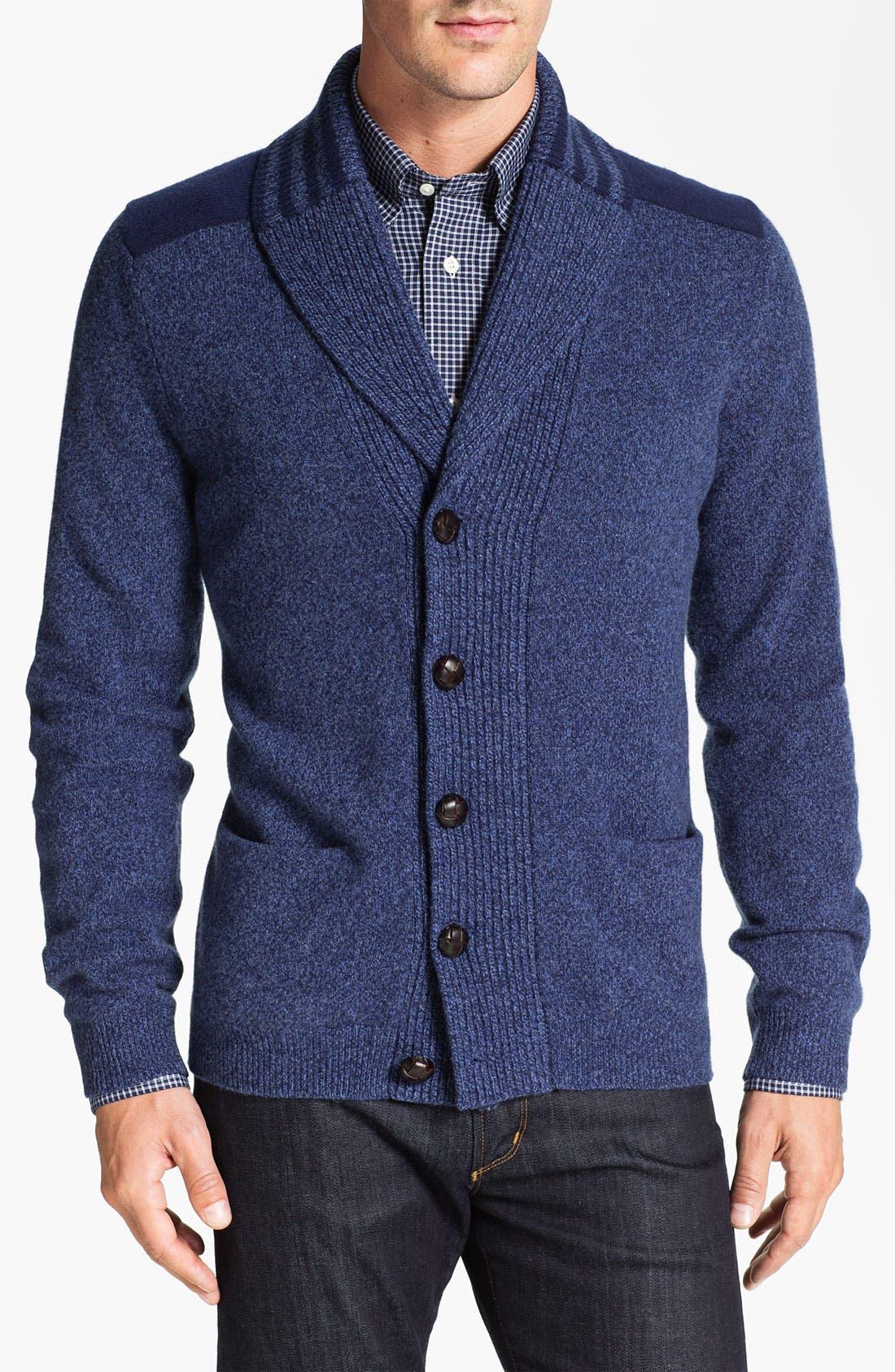 Main Image - Façonnable Shawl Collar Wool Cardigan