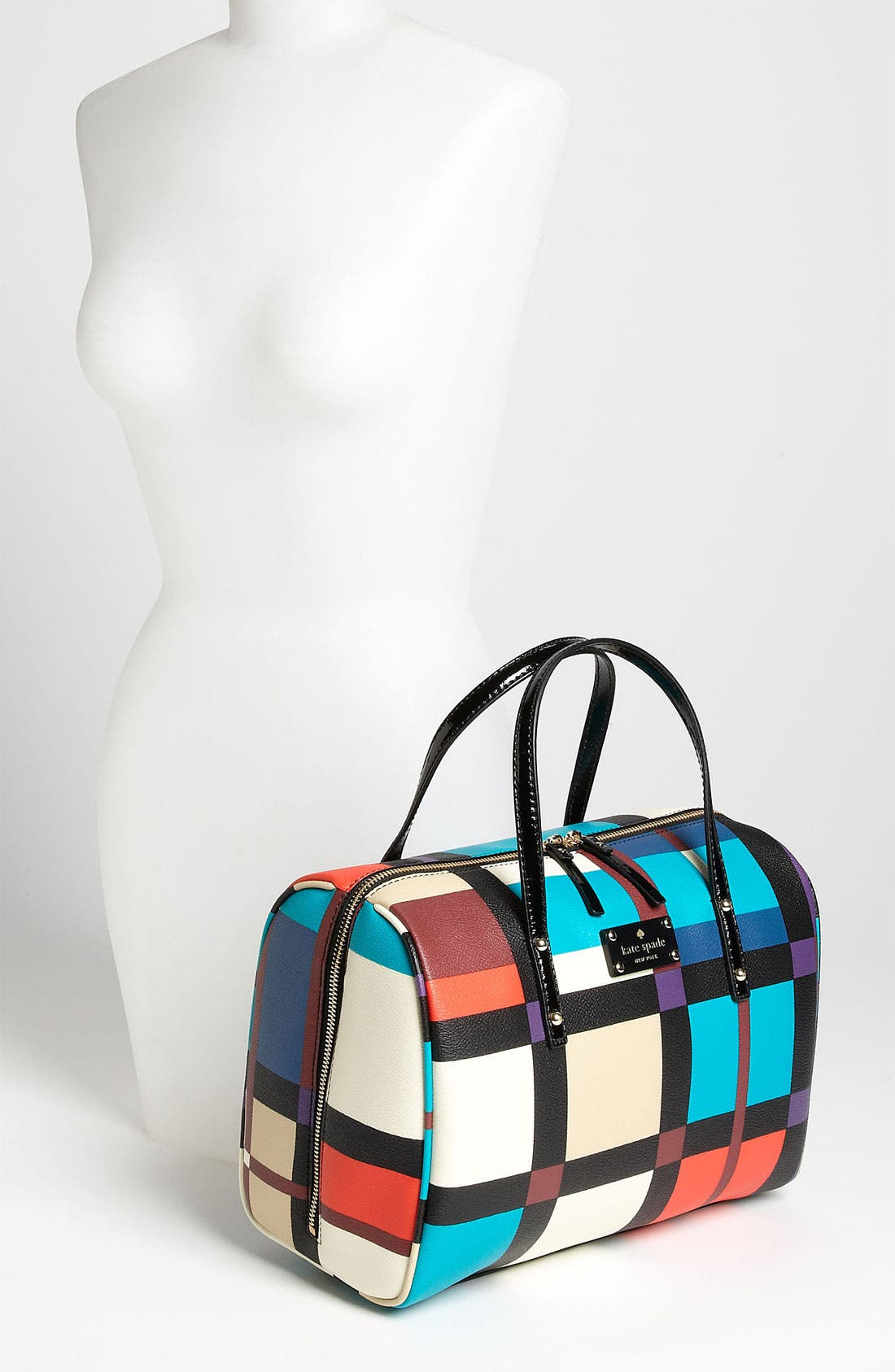 Alternate Image 2  - kate spade new york 'perry street plaid - shawna' satchel