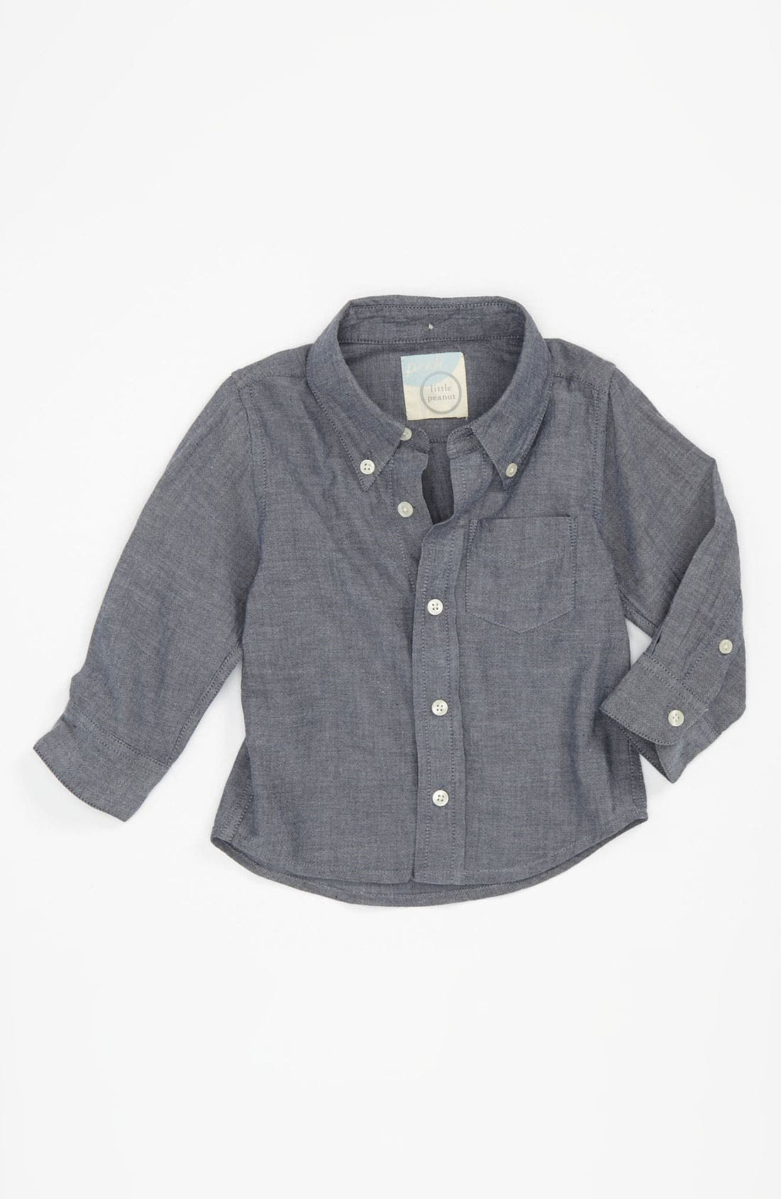 Alternate Image 1 Selected - Peek 'Clifton' Chambray Shirt (Infant)