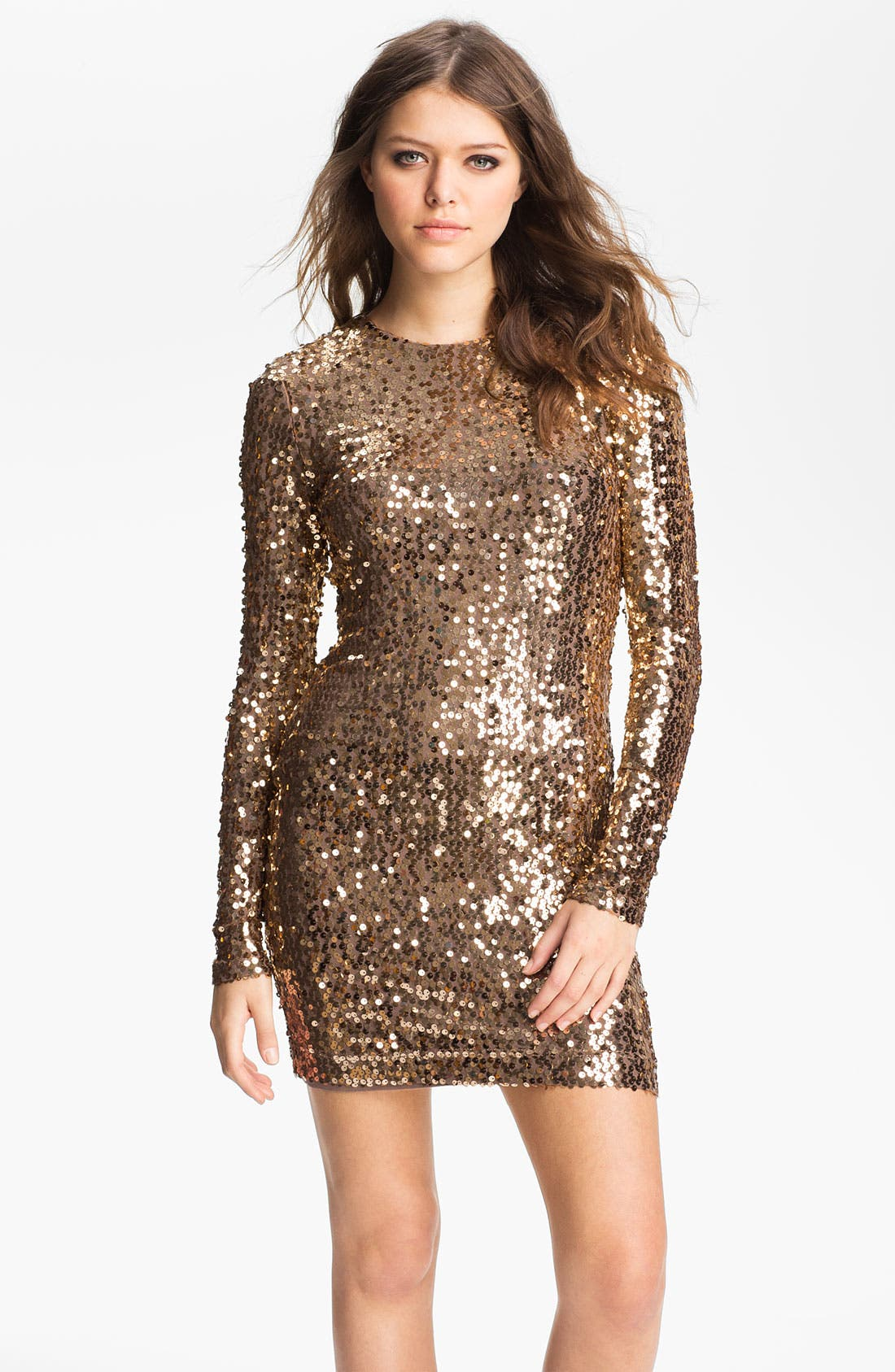 Alternate Image 1 Selected - French Connection Sequin Sheath Minidress