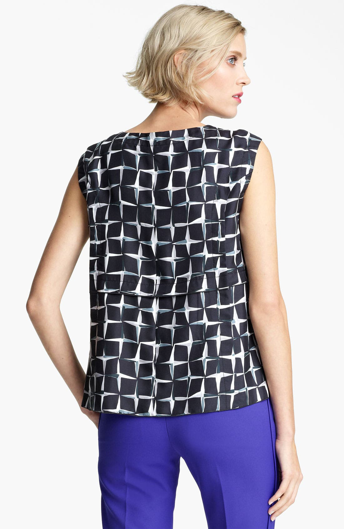 Alternate Image 2  - MARC JACOBS Diamond Print Silk Twill Top
