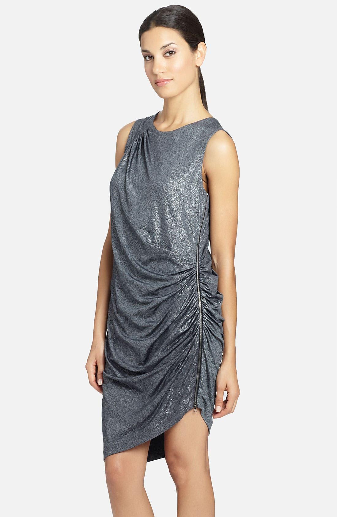 Alternate Image 1 Selected - Cynthia Steffe 'Rianna' Side Zip Metallic Dress