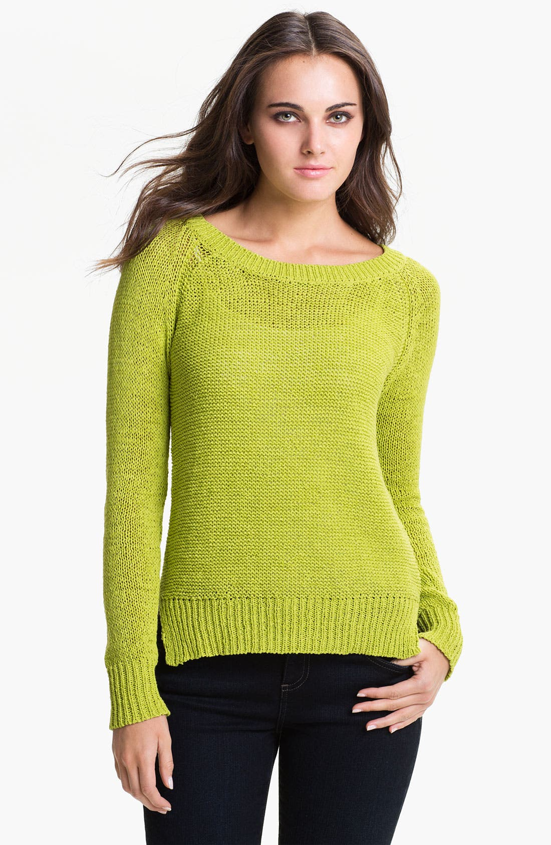 Alternate Image 1 Selected - Vince Camuto Open Stitch Sweater