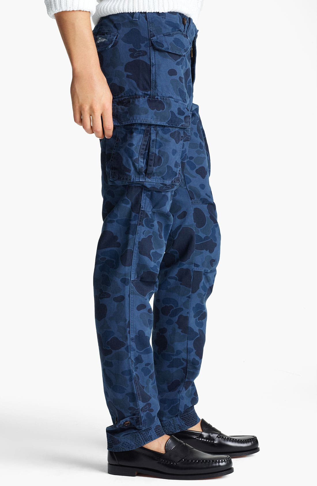 Alternate Image 3  - Gant by Michael Bastian Skinny Camo Cargo Pants
