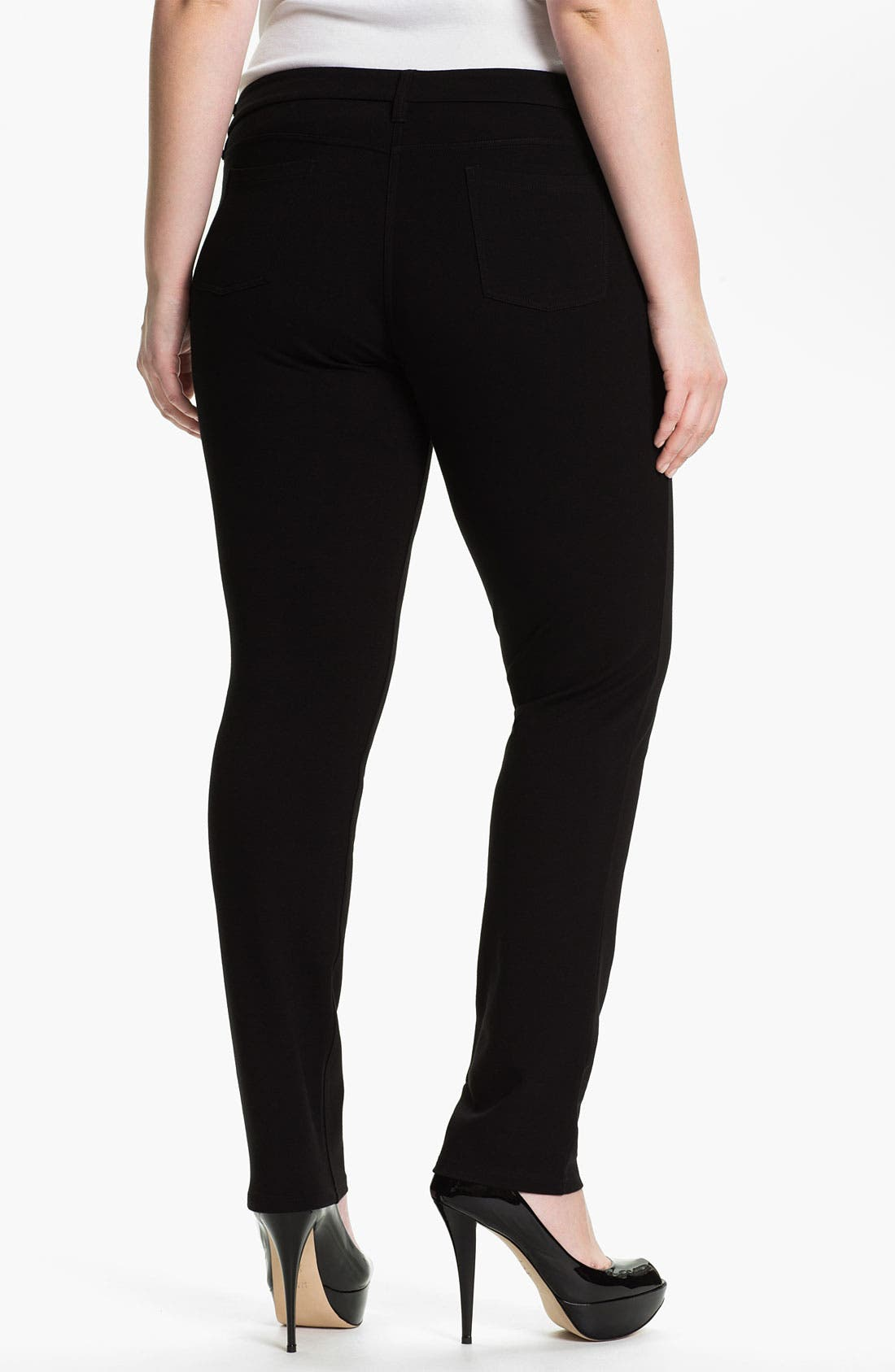 Alternate Image 2  - Eileen Fisher Skinny Ponte Knit Pants (Plus)