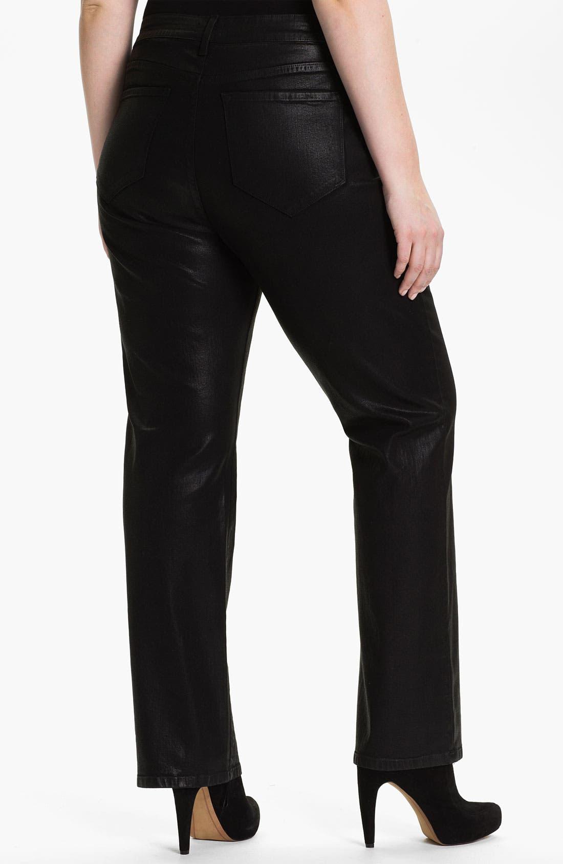 Alternate Image 2  - NYDJ 'Marilyn' Coated Bootcut Jeans (Plus)