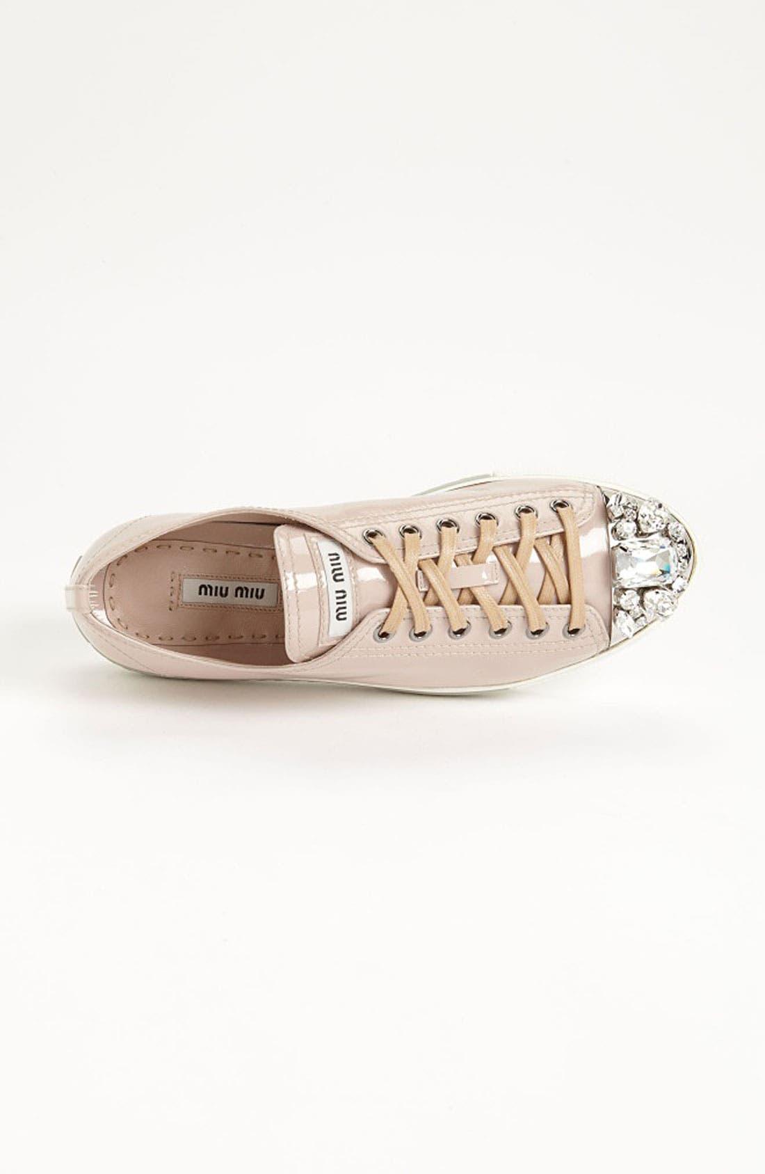 Alternate Image 3  - Miu Miu Crystal Cap Toe Sneaker