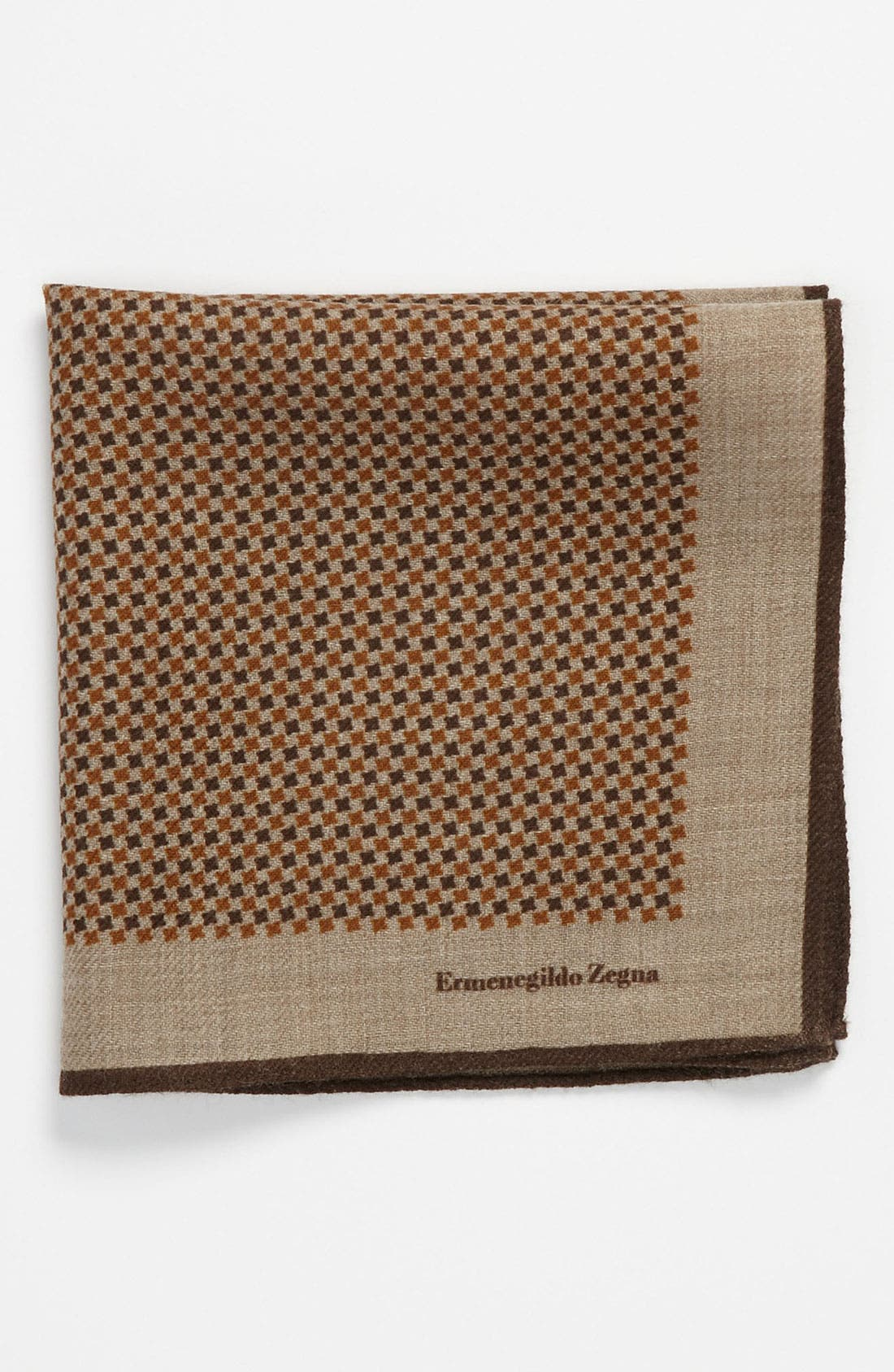 Alternate Image 1 Selected - Ermenegildo Zegna Wool Pocket Square